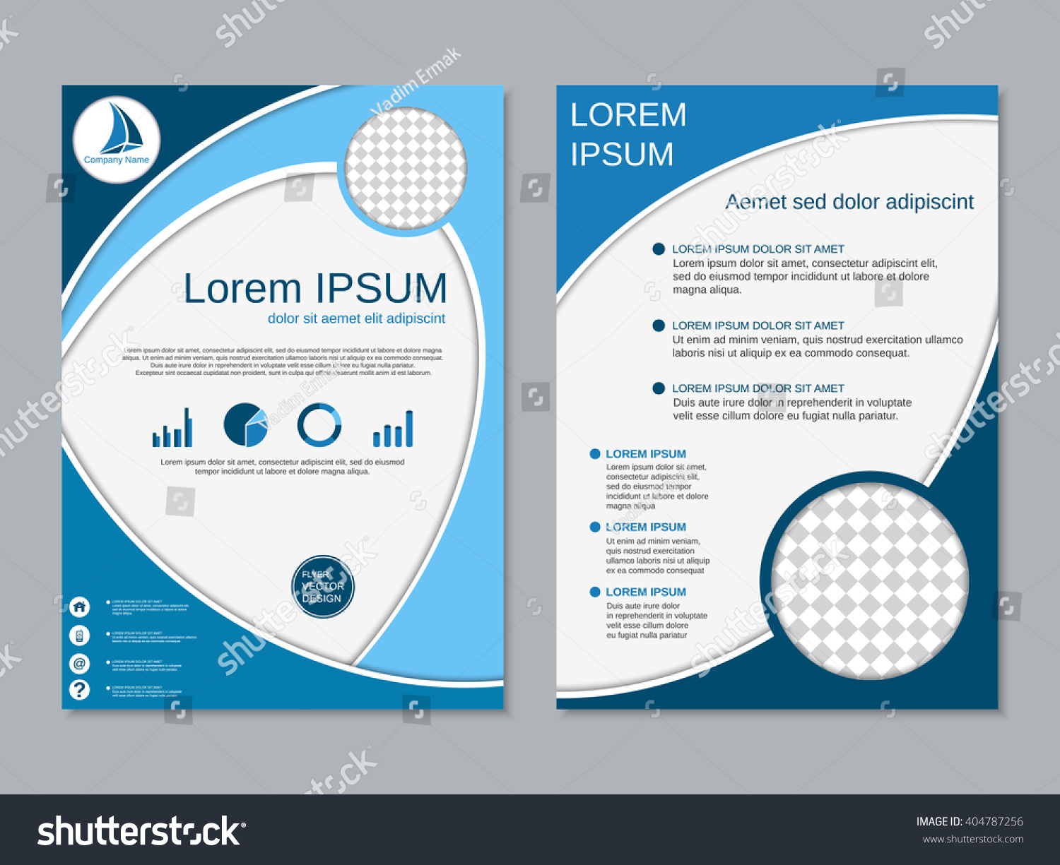 two sided brochure template - royalty free modern two sided booklet vector 404787256