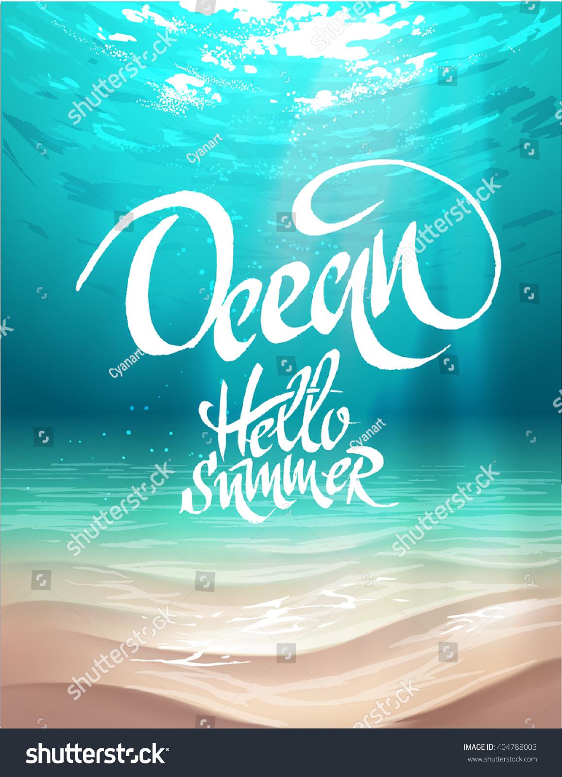 summer vector poster ocean bed stock vector royalty free 404788003