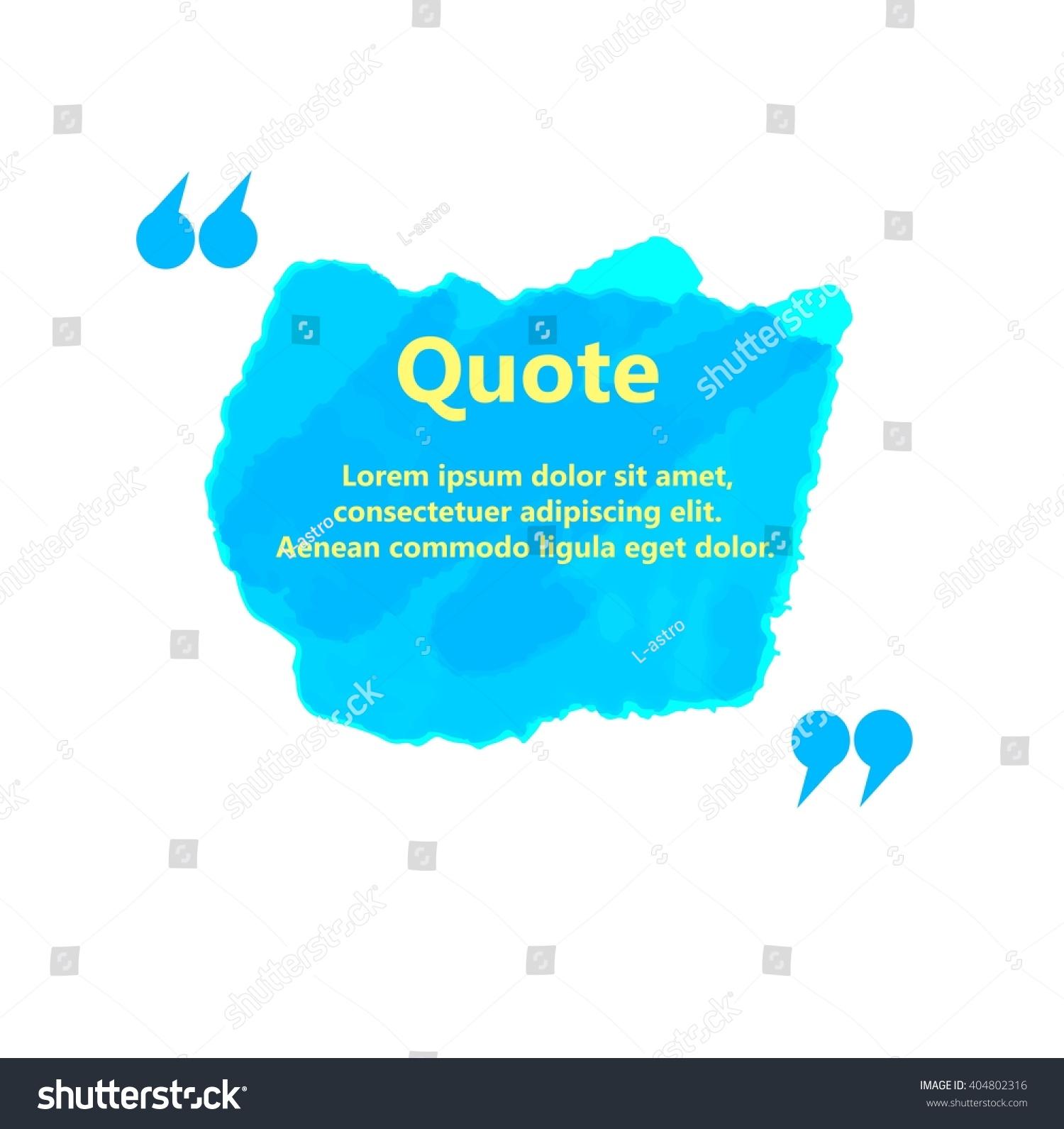 Watercolor Ink Splash Quote Blank Templates Stock Photo (Photo ...