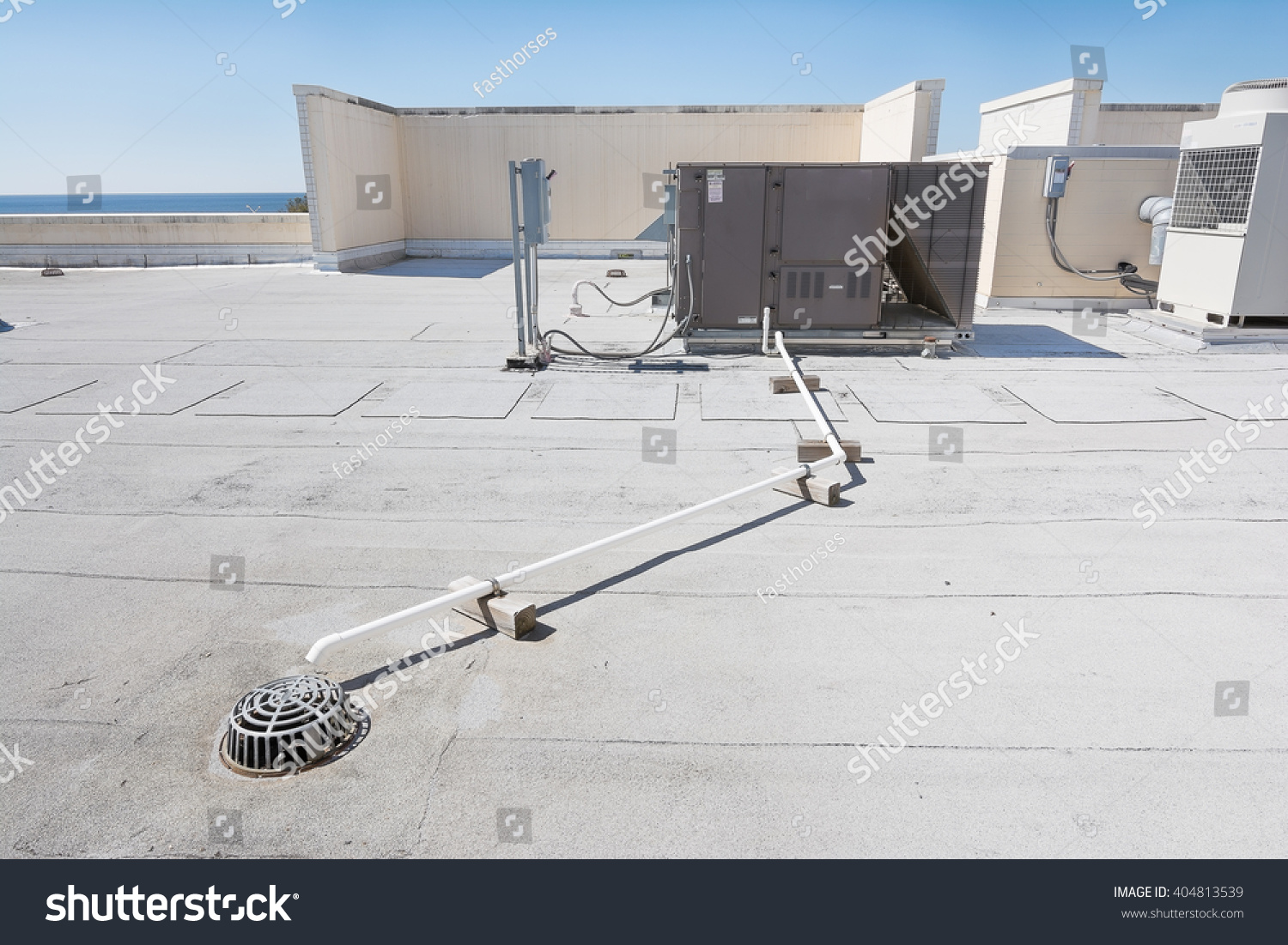 Rooftop Heating Cooling System Stock Photo (Edit Now