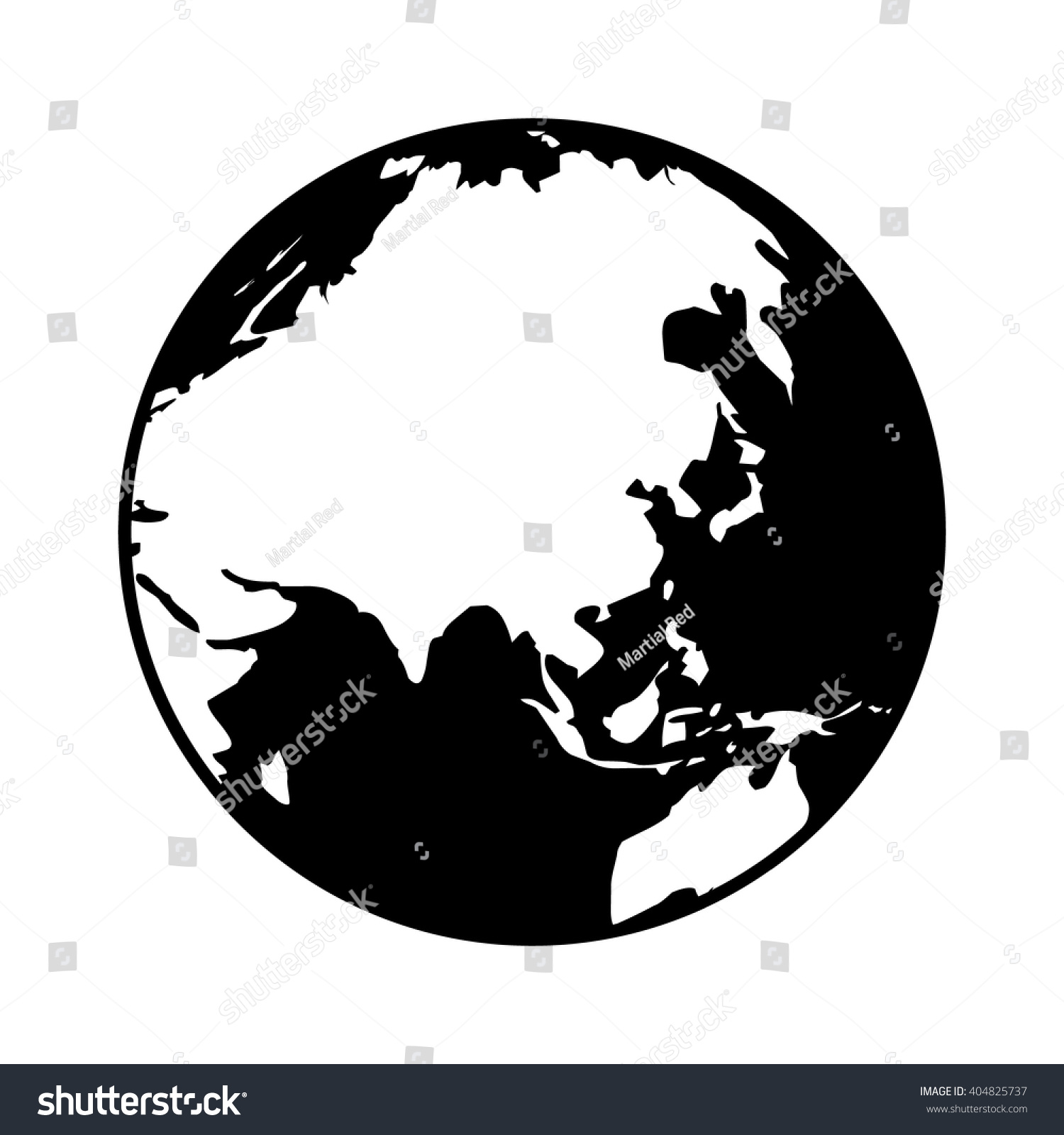 World map globe planet earth showing vectores en stock 404825737 world map globe or planet earth showing asia flat icon for apps and websites gumiabroncs Image collections