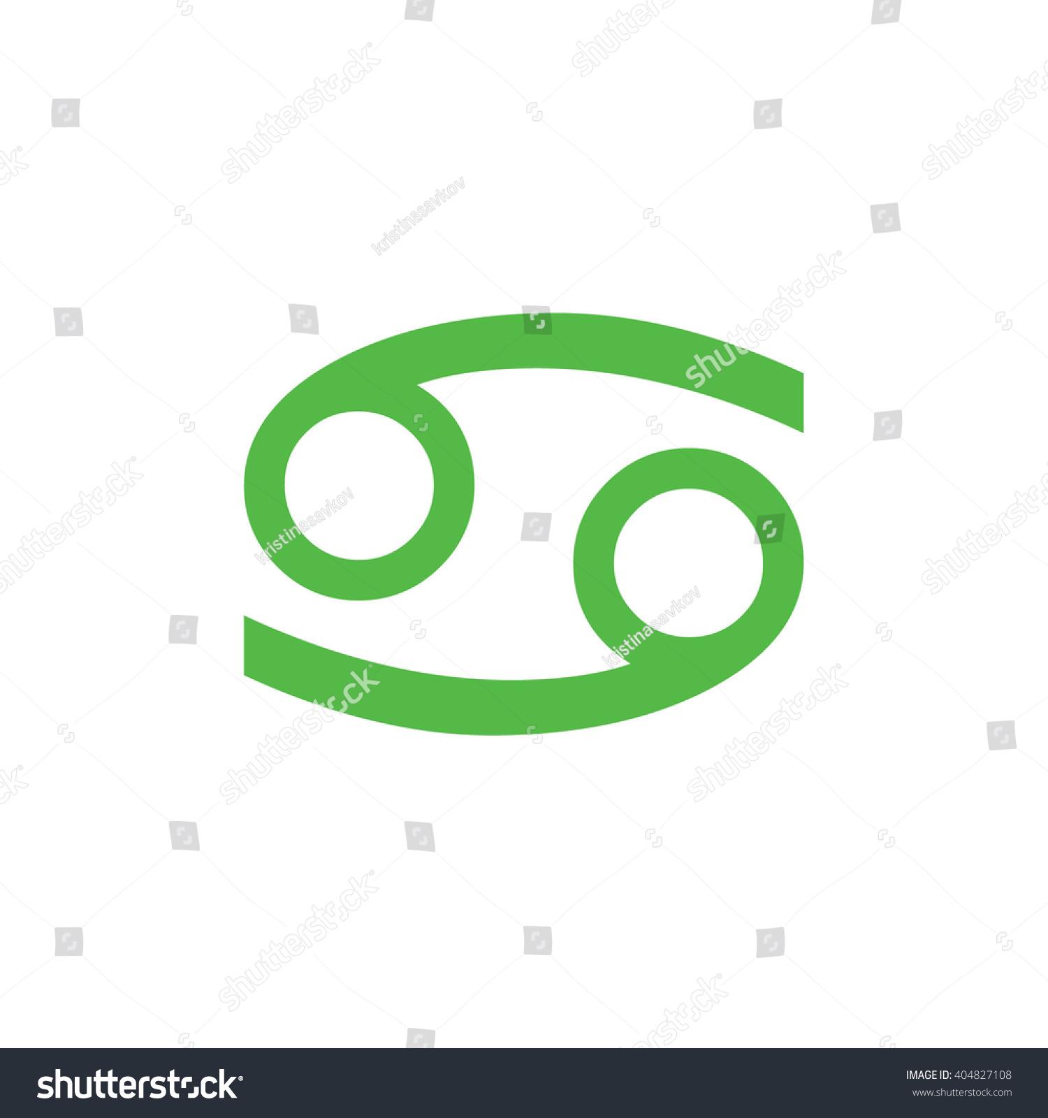 Green Cancer Zodiac Sign Astrology Symbol Stock Vector 404827108