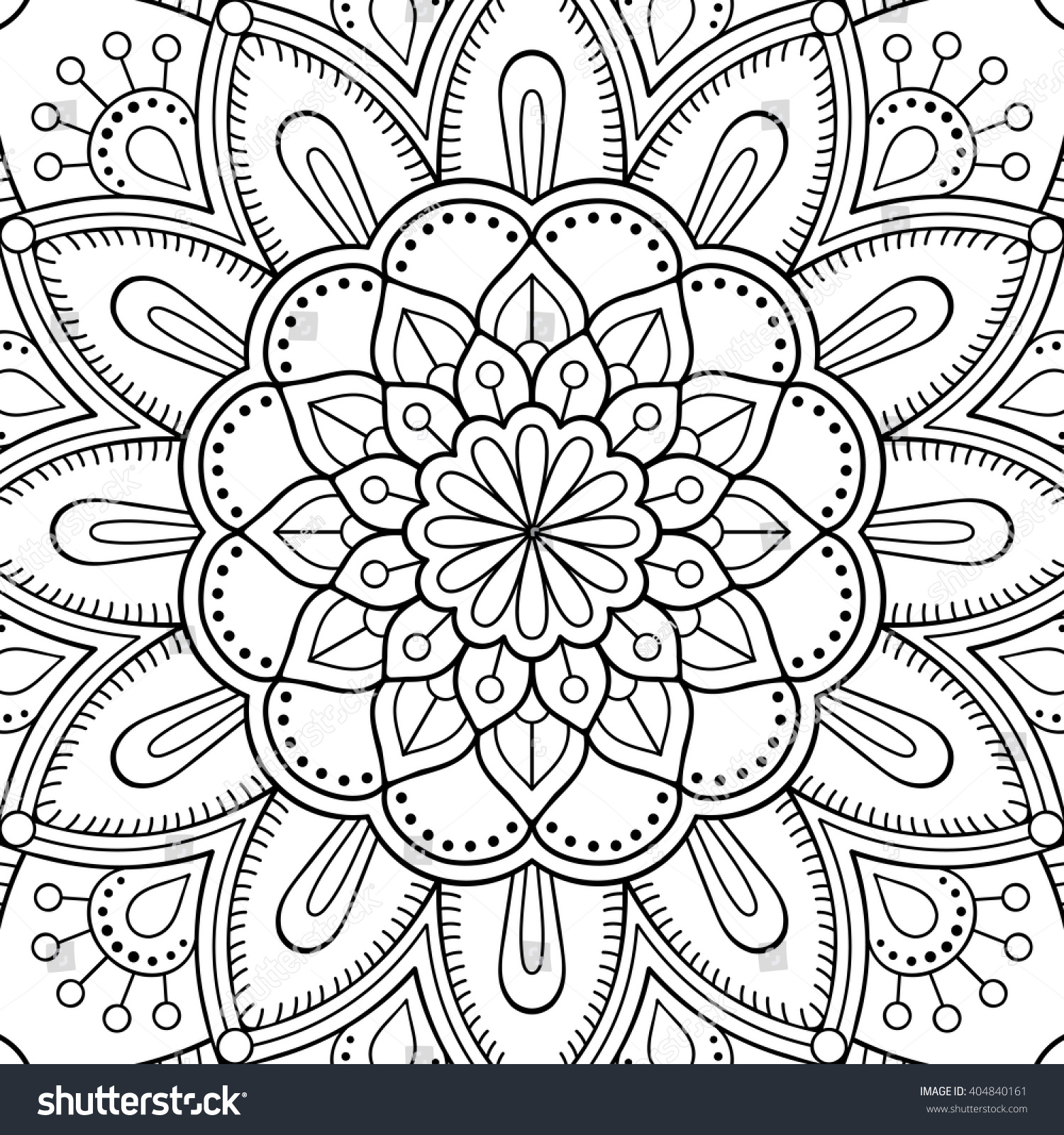 Chinese mandala coloring pages - Mandala Coloring Page Vintage Decorative Elements Oriental Pattern Vector Illustration Islam