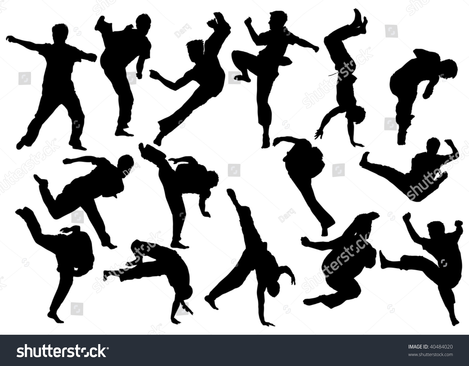 martial arts black white poses over stock vector 40484020 punch hand clipart fist punch clipart