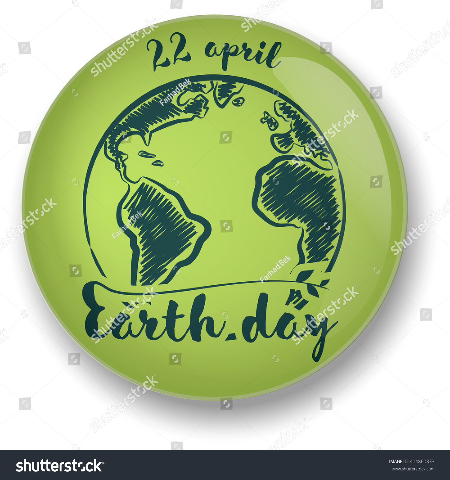 Planet symbol earth day stock vector 404860333 shutterstock planet symbol earth day buycottarizona