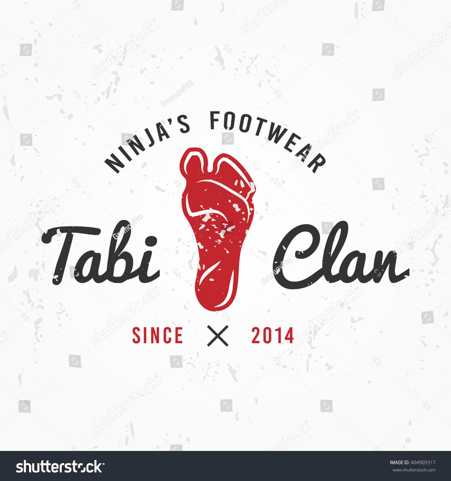 T shirt japanese design - Japanese Ninja Logo Footwear Insignia Design Vintage Tabi Foot Badge Martial Art Team