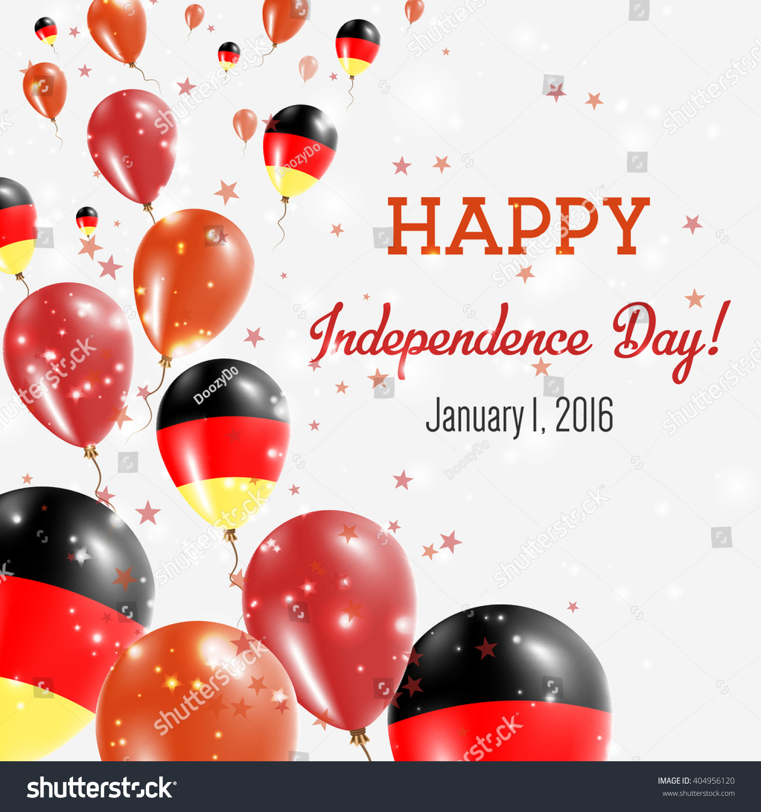 Germany Independence Day Greeting Card Flying Stock Vector 404956120