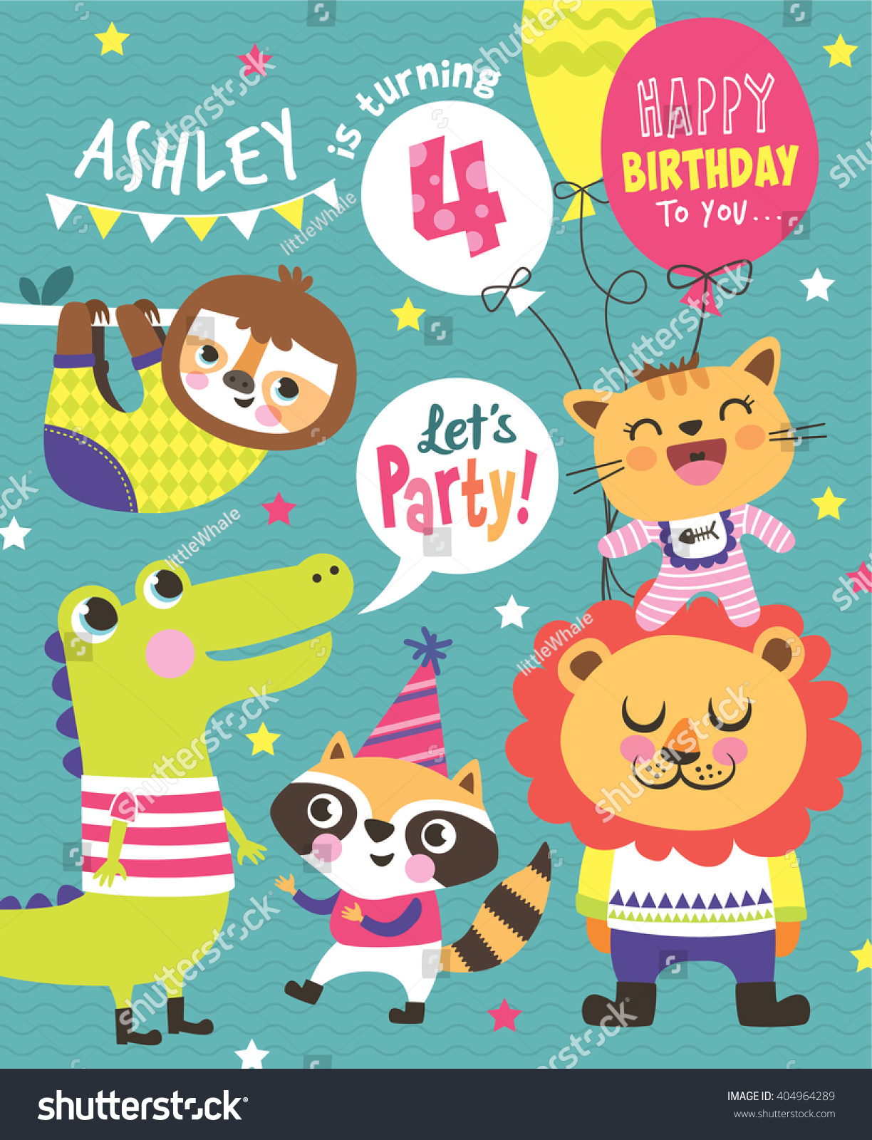 4th Birthday Party Invitation Card