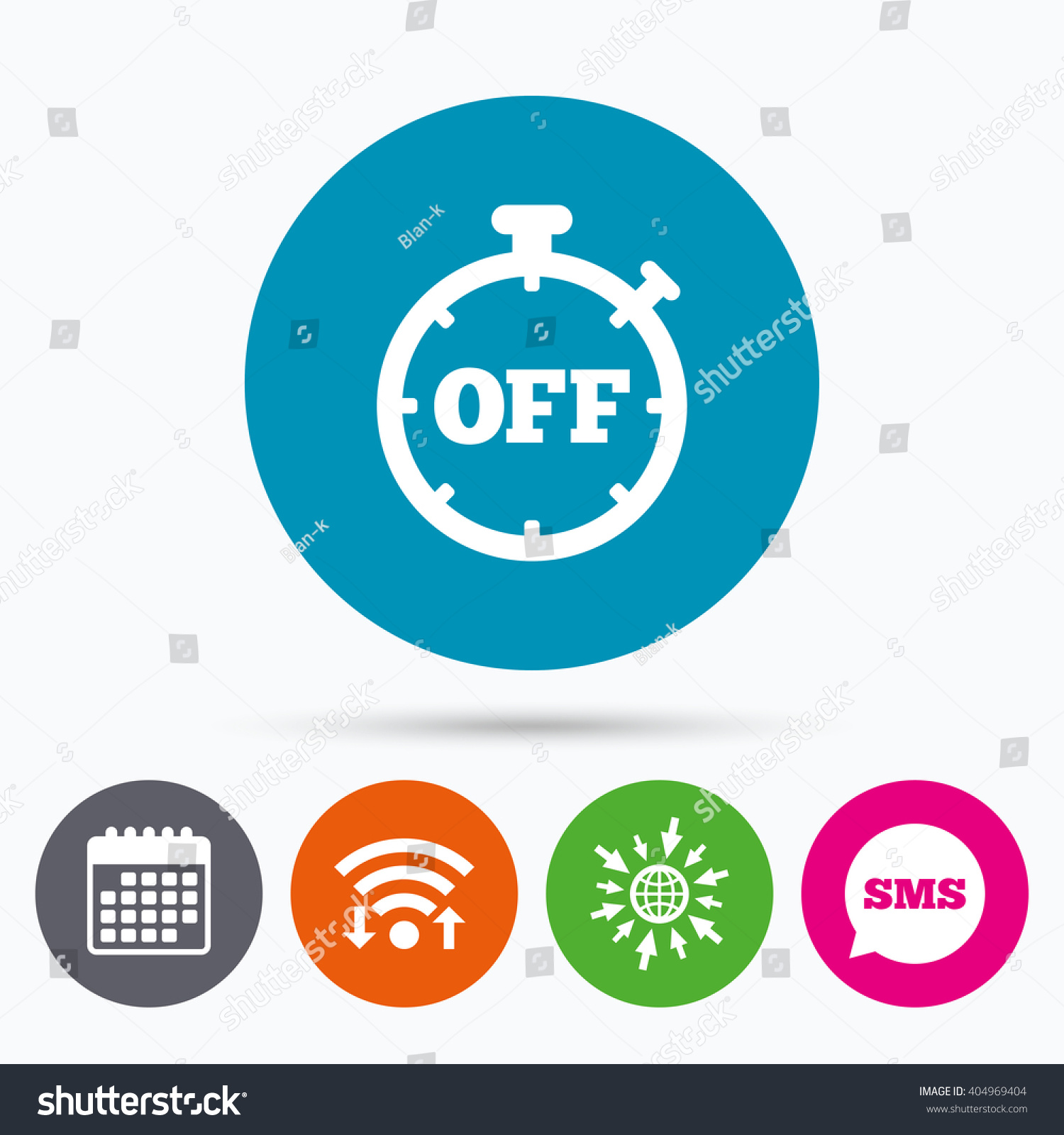 Go Sign Icon Wifi Sms Calend...