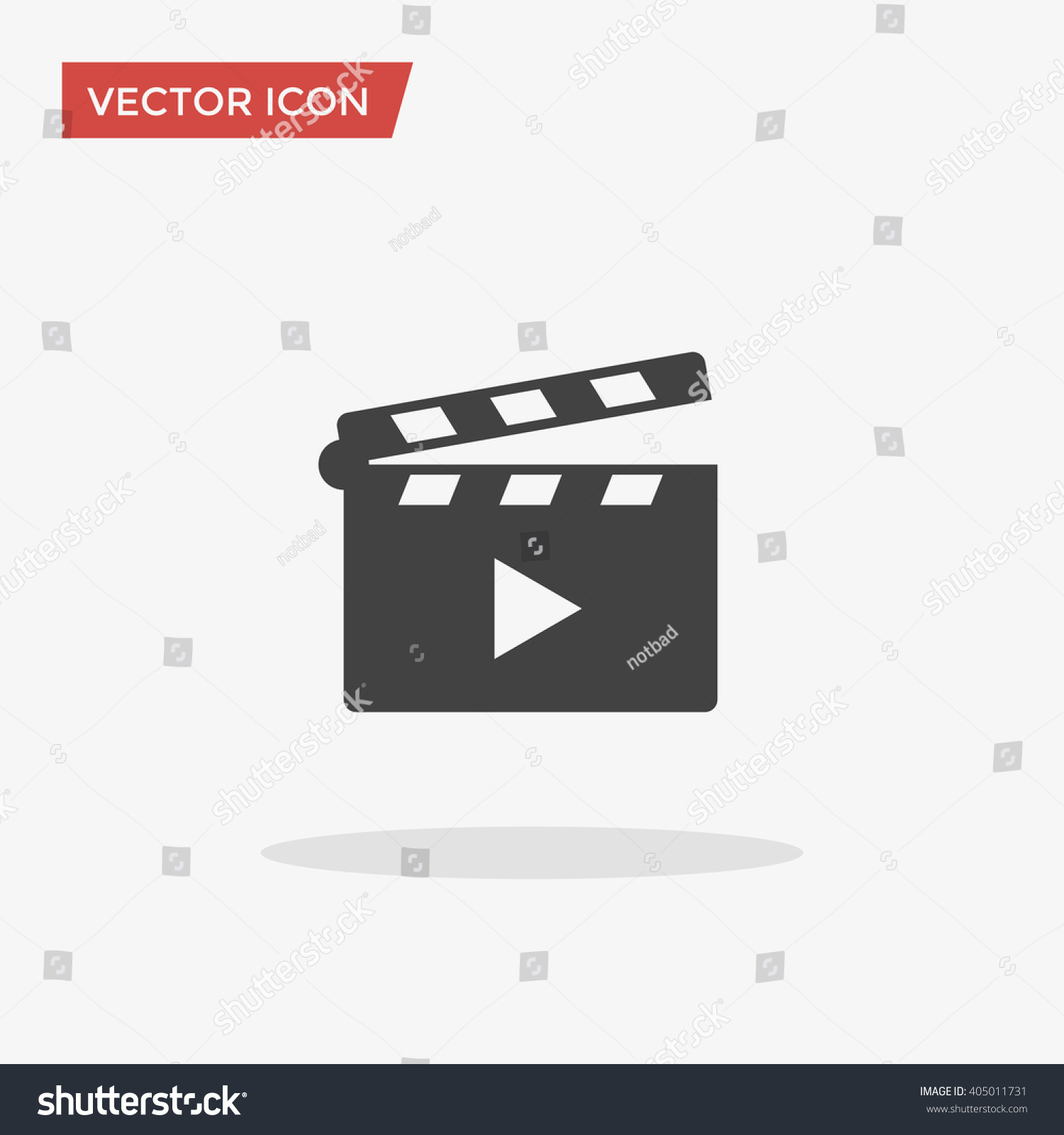 Movie clapper icon trendy flat style stock vector 405011731 movie clapper icon in trendy flat style isolated on grey background clapperboard symbol for your biocorpaavc