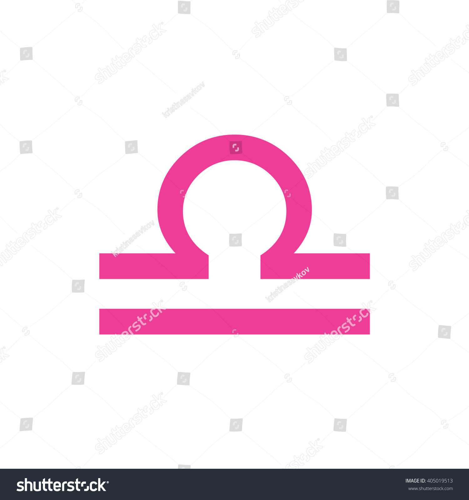 Pink Libra Zodiac Sign Astrology Symbol Stock Vector Royalty Free