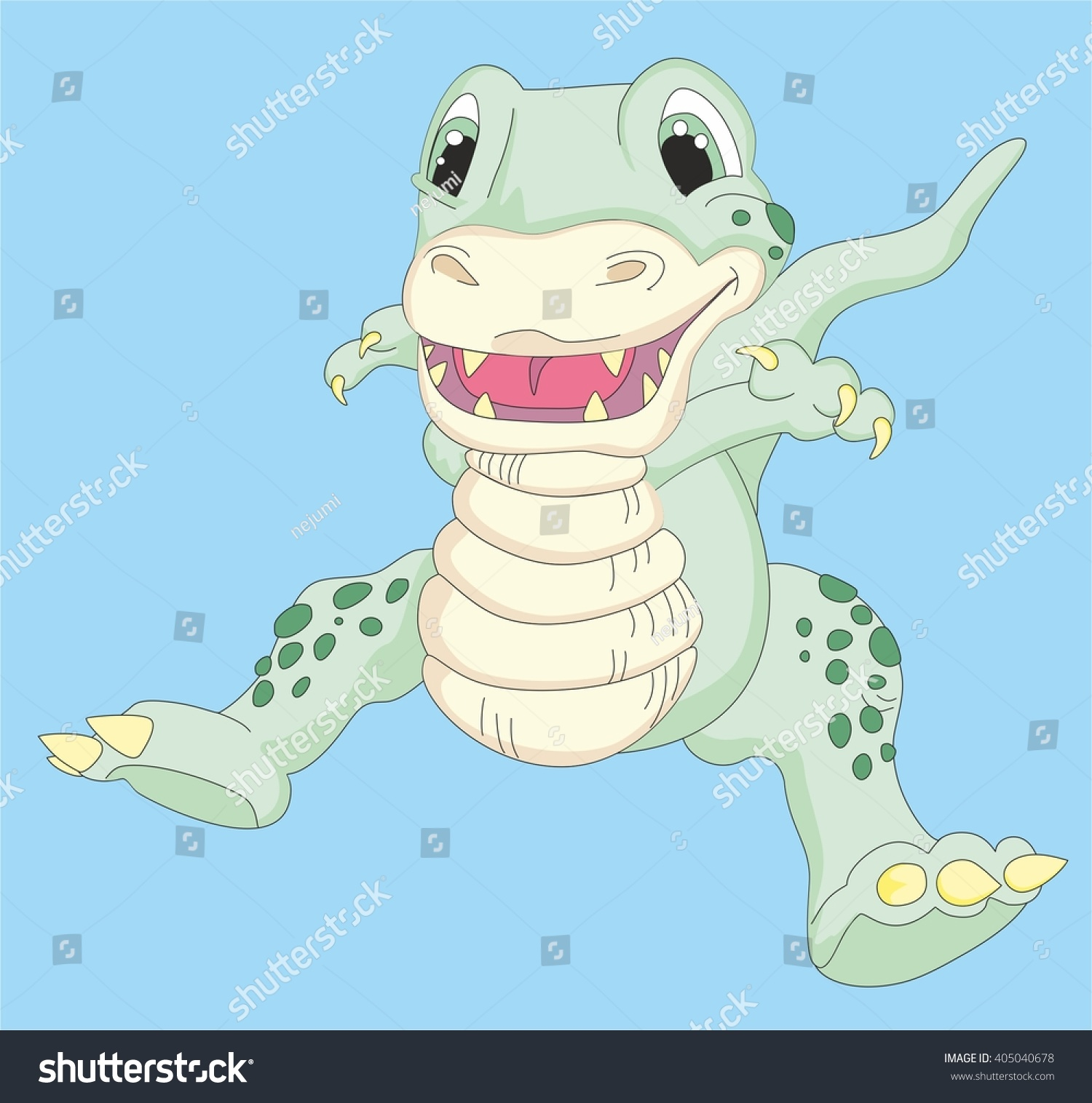 Cute cartoon dragon picture character toy stock vector 405040678 cute cartoon dragon picture a character to a toy store or a childrens book voltagebd Choice Image