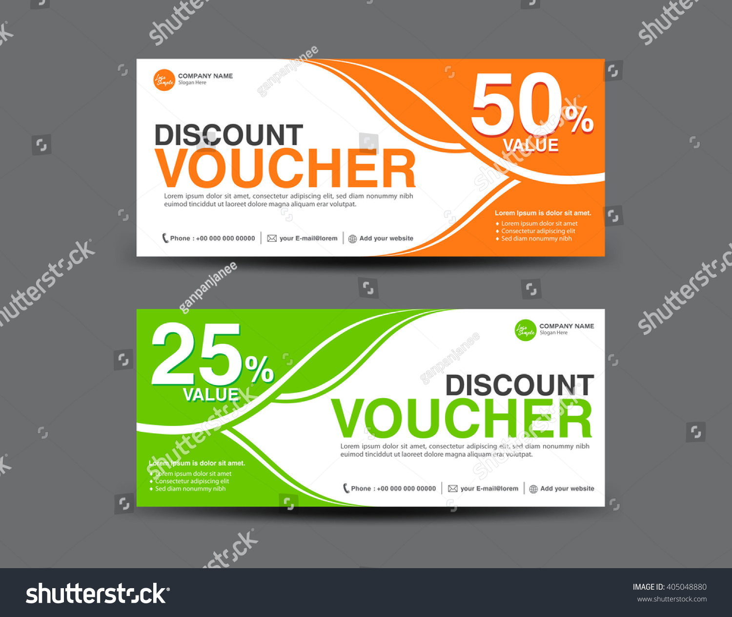 Discount Voucher Template Coupon Designticket Card Stock Vector HD ...