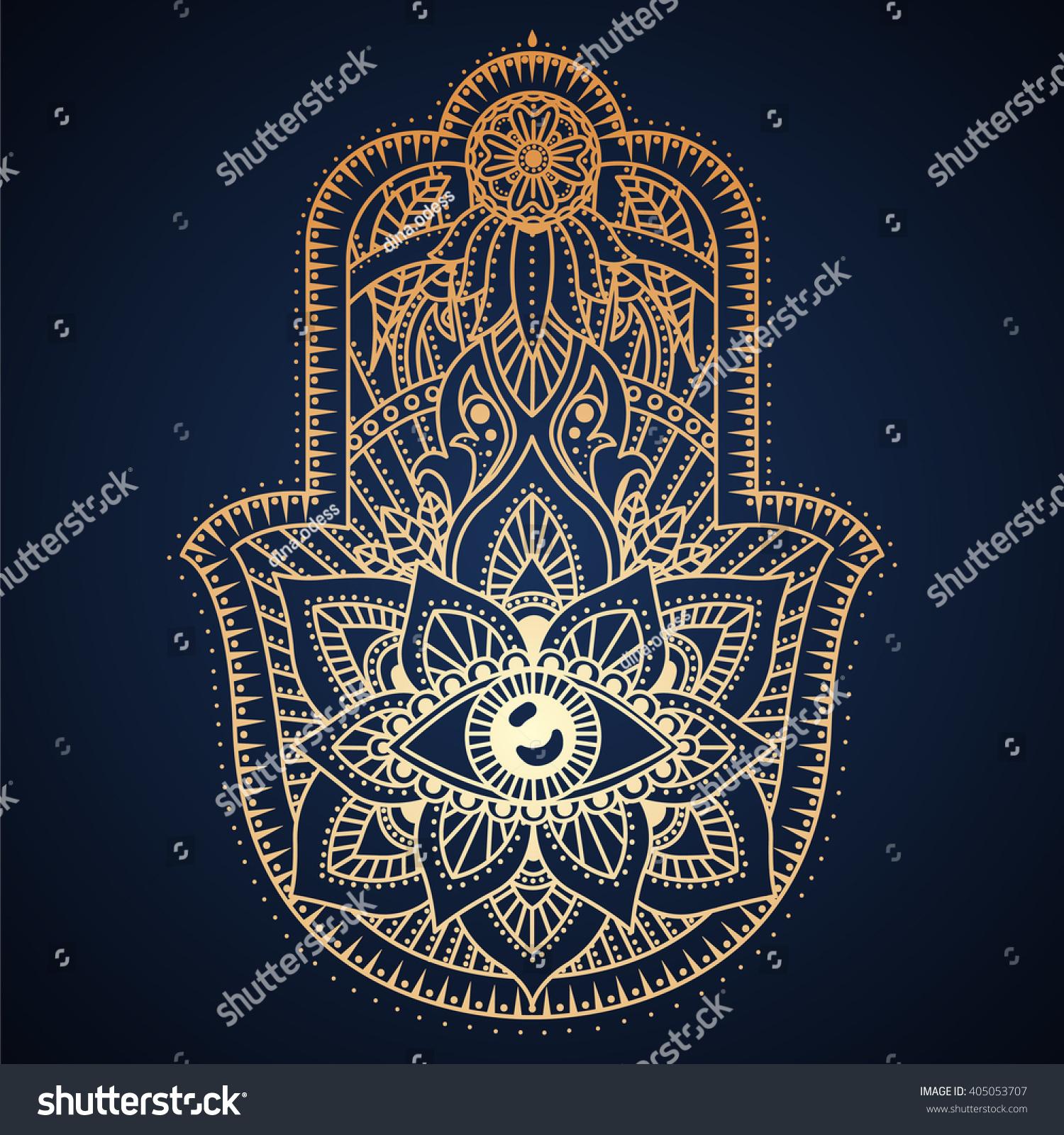 Hamsa hand hand fatima amulet symbol stock vector 405053707 hamsa hand hand of fatima amulet symbol of protection from devil eye biocorpaavc