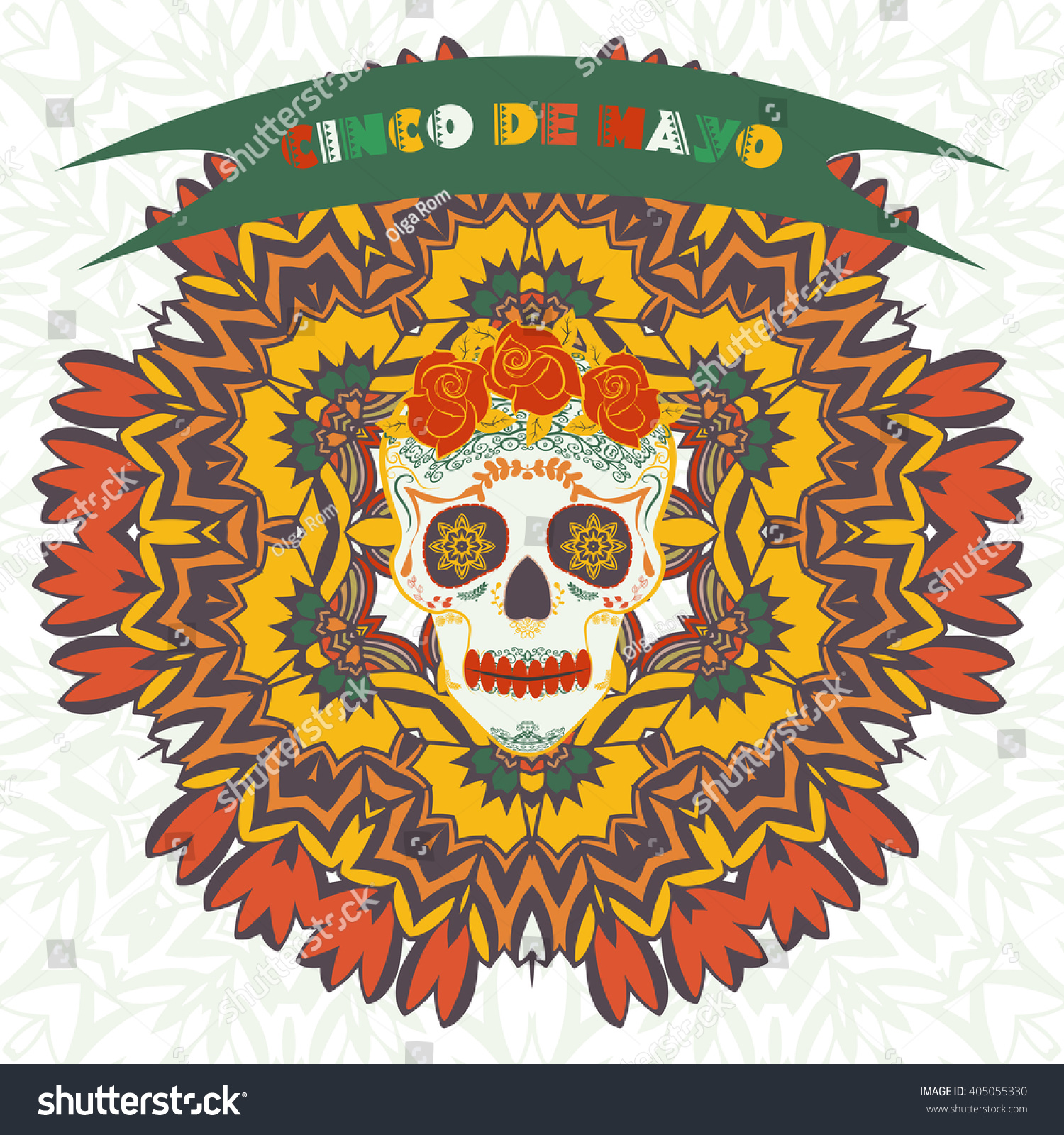 Cinco de mayo fifth may day stock vector 405055330 shutterstock cinco de mayo fifth of may day vector illustration with ethnic ornament pattern kristyandbryce Gallery