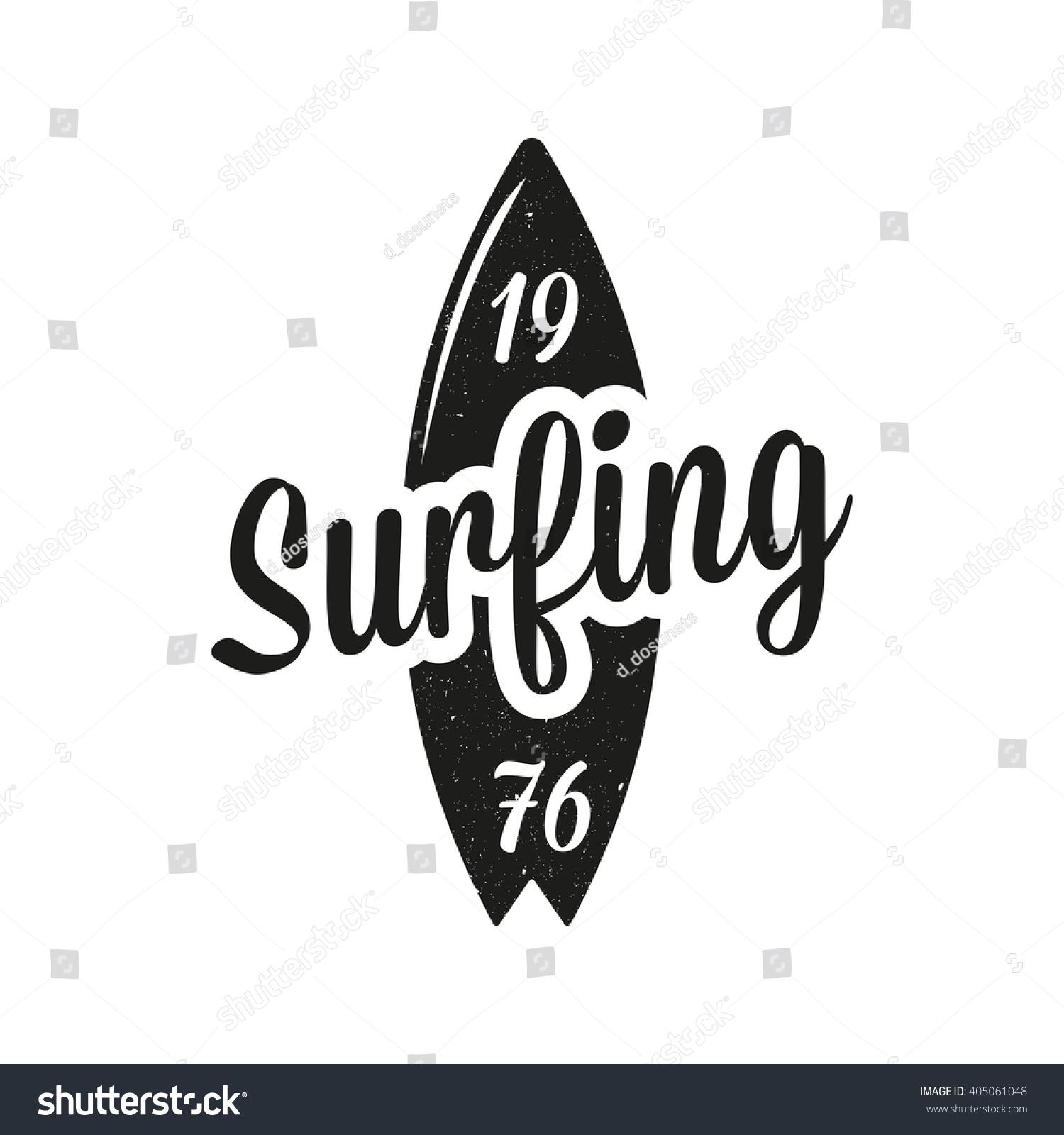Vintage Surfing Emblem Surf Logo Stock Vector Royalty Free