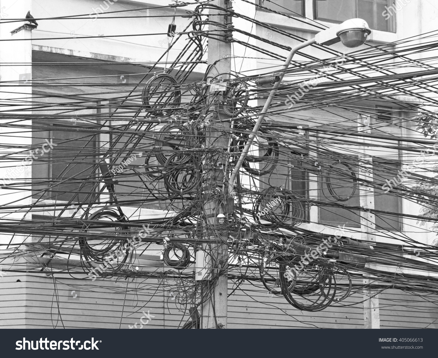 Royalty Free Complicated Arrangement Of Bangkok 405066613 Stock Electric Barbed Wire Photo Public Domain Pictures
