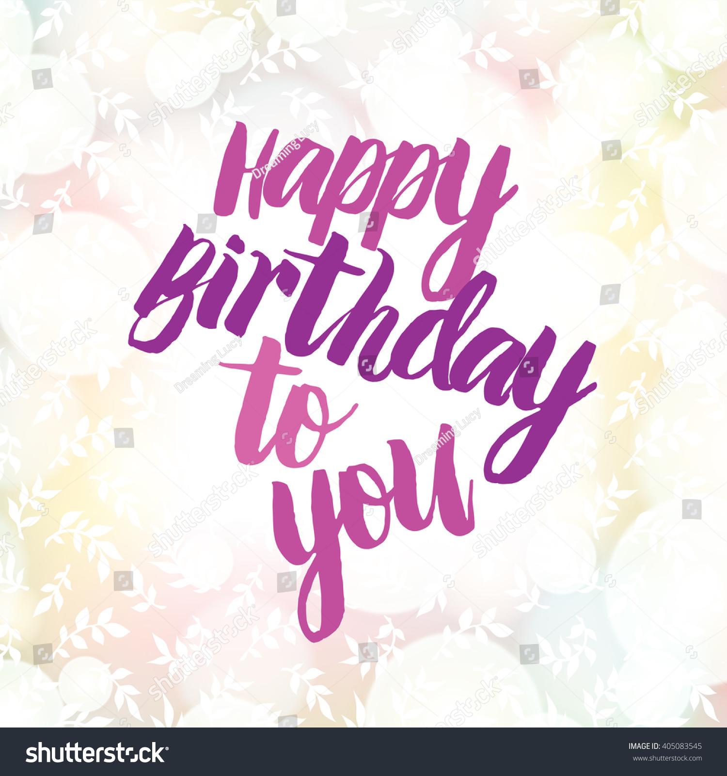 Happy Birthday Card On Colorful Bokeh Stock Vector Royalty Free