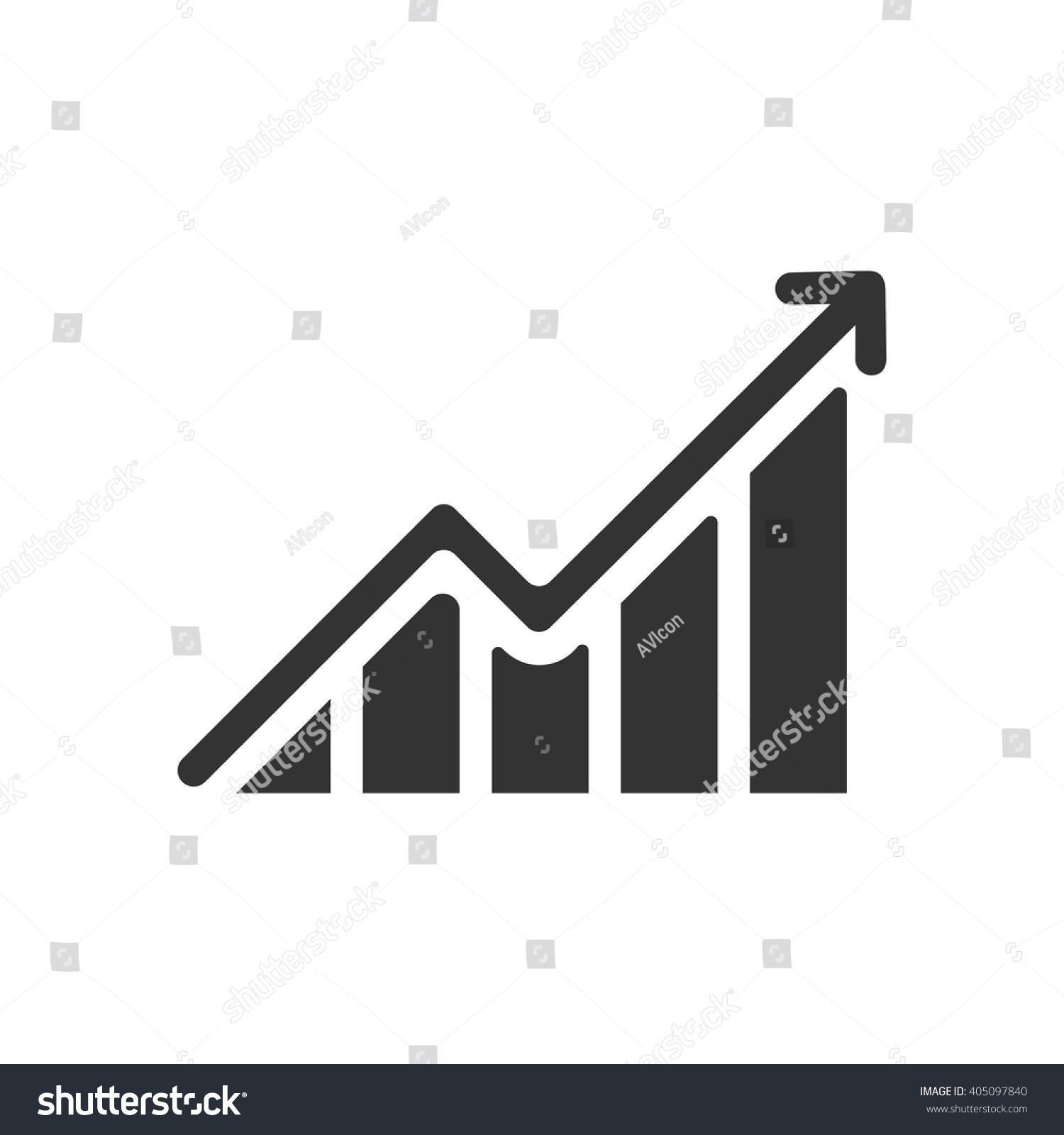 Growing graph icon vector solid illustration em vetor stock growing graph icon vector solid illustration pictogram isolated on white ccuart Image collections