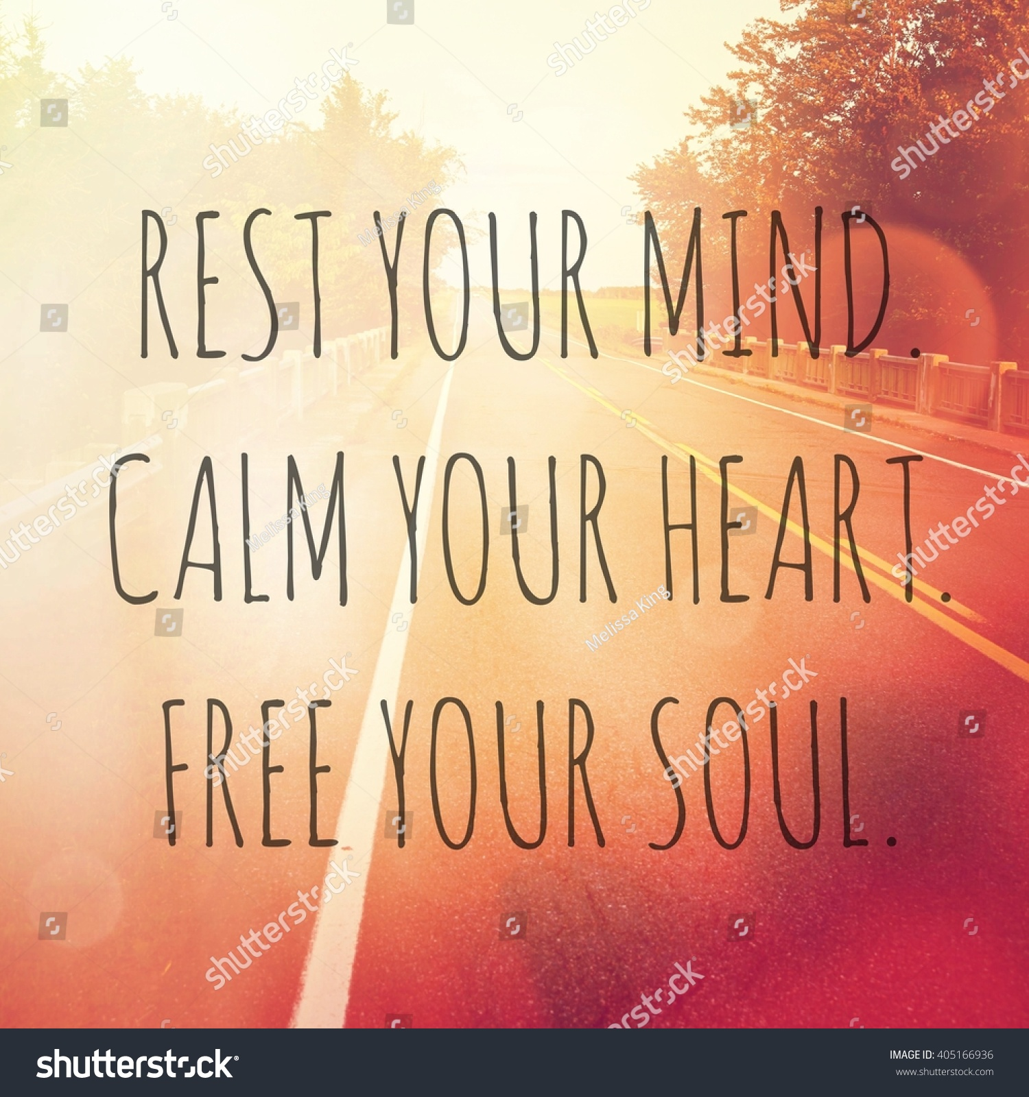 Free Your Mind Quotes Inspirational Typographic Quote Rest Your Mind Stock Photo