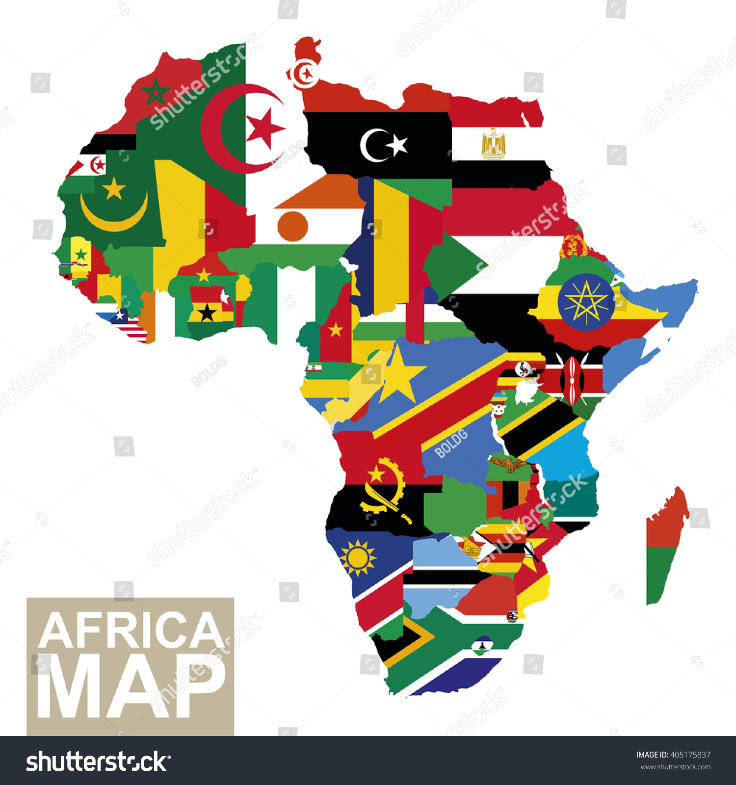 Africa map vector map africa flags stock vector 405175837 africa map vector map of africa with flags african countries flag vector illustration gumiabroncs Images