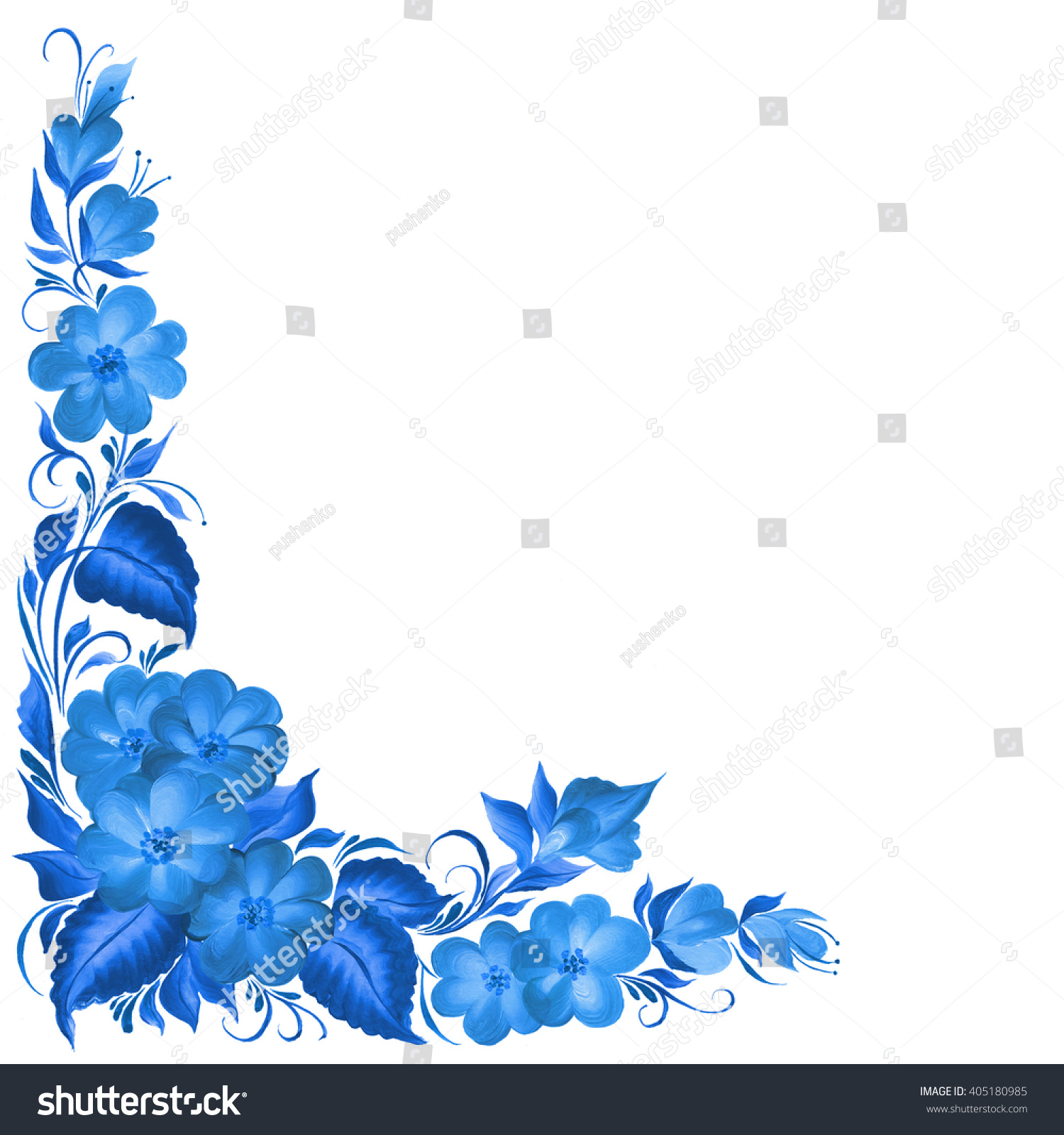 Frame flowers design beautiful design background stock illustration frame with flowers for design beautiful design background with blue flowers izmirmasajfo