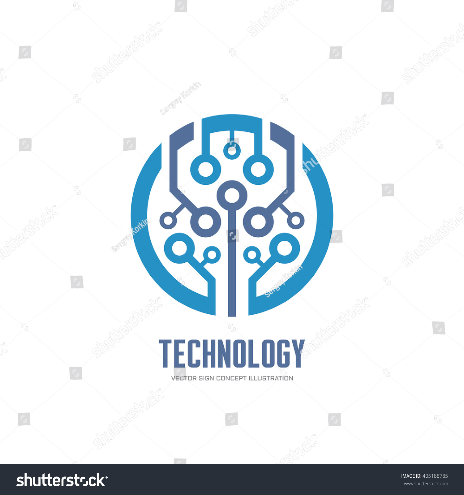 Technology Vector Logo Corporate Identity Abstract Stock