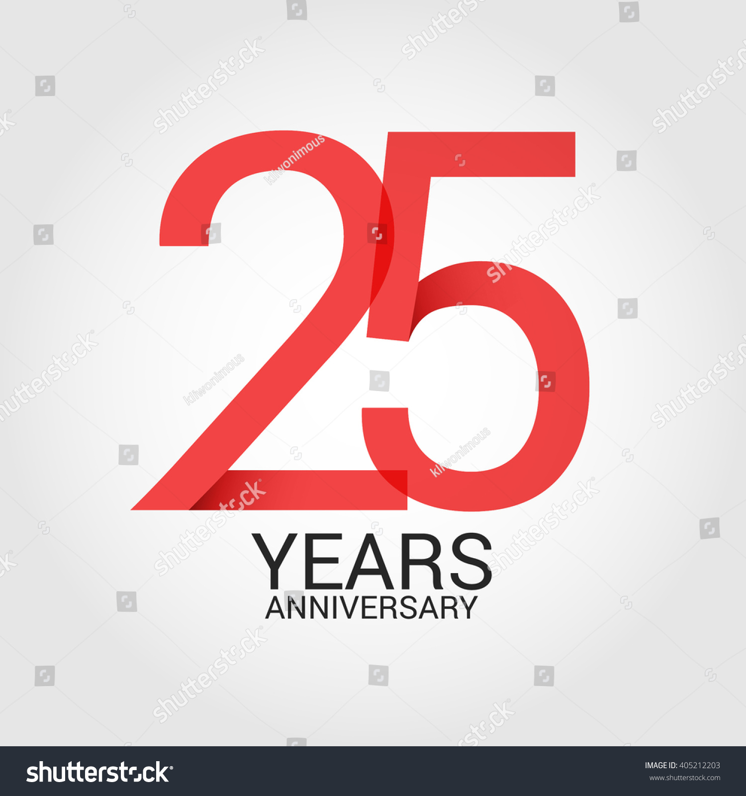 25 Years Anniversary Signs Symbols Simple Stock Vector Royalty Free