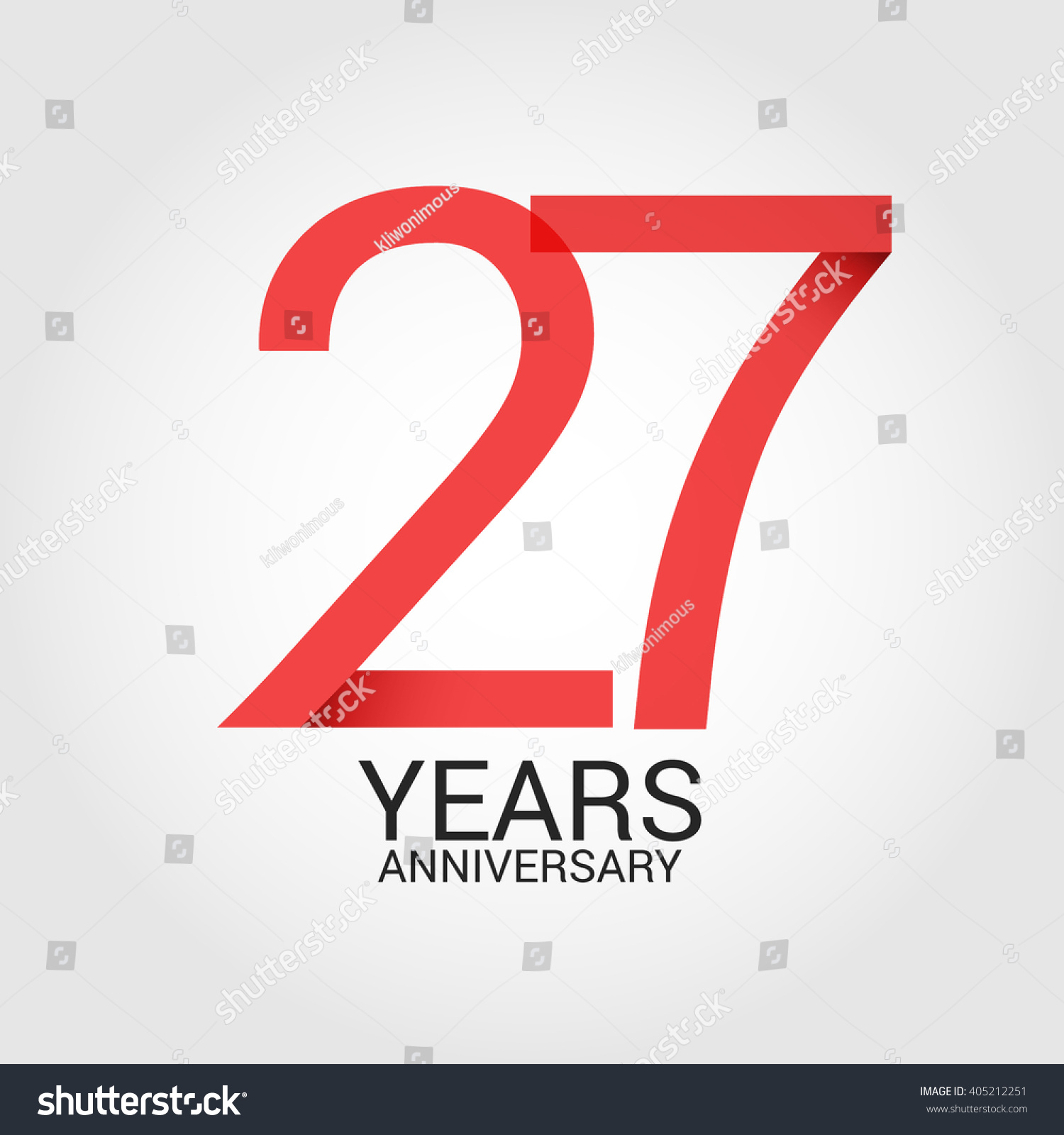 27 years anniversary signs symbols simple stock vector 405212251 27 years anniversary signs symbols simple design biocorpaavc Images