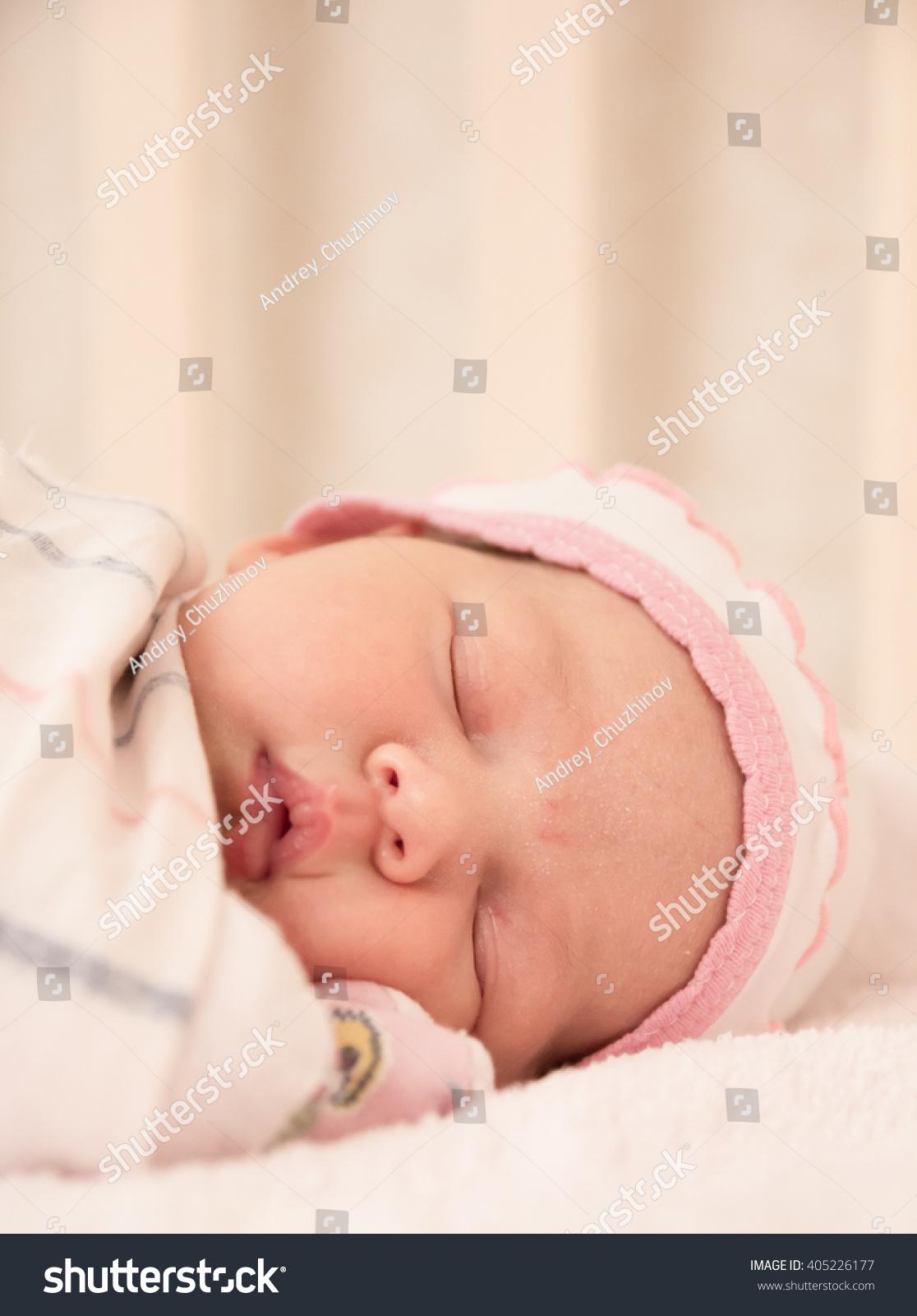very nice sweet baby sleeping crib stock photo (edit now) 405226177