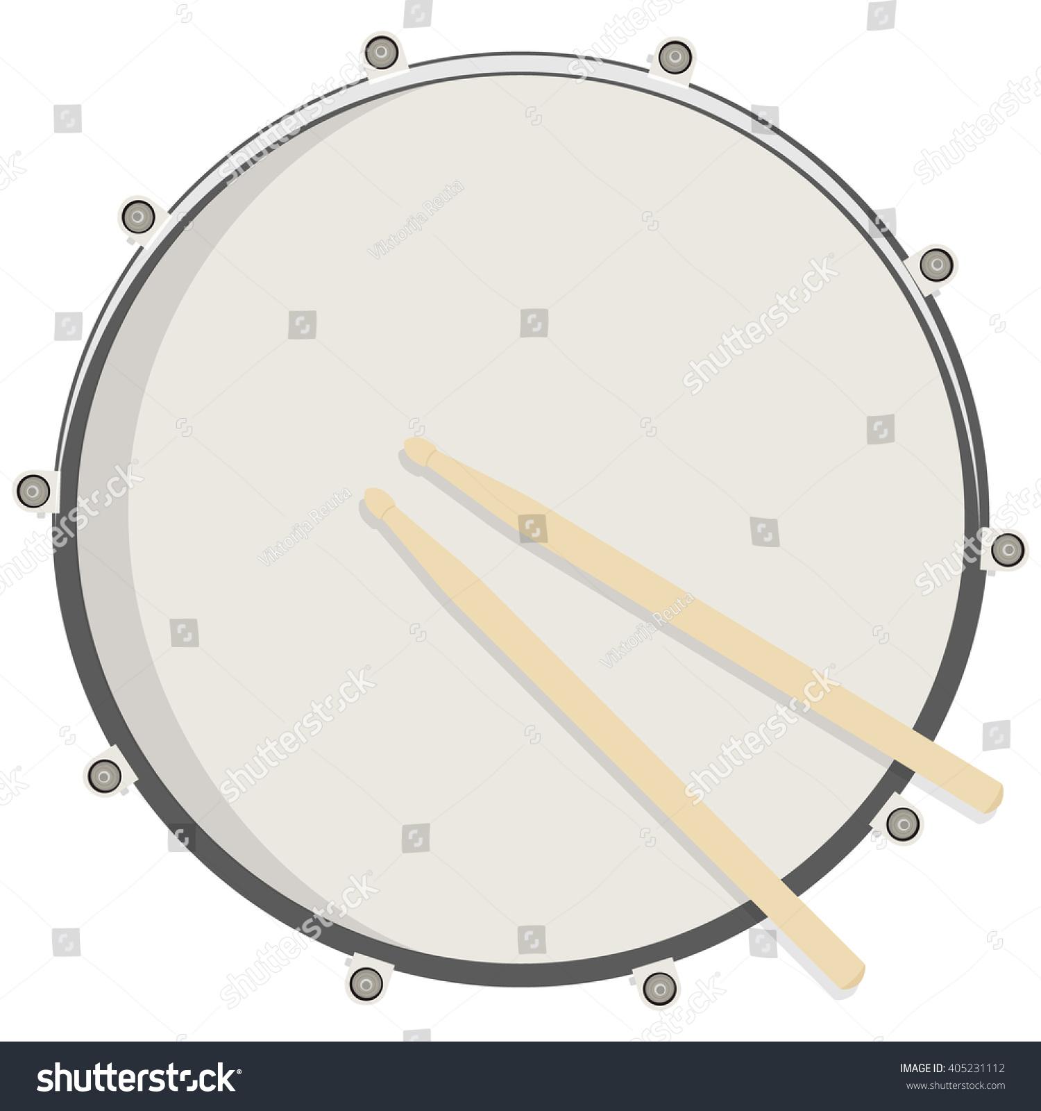 Vector Illustration Drum Sticks Top View Stock Vector ...