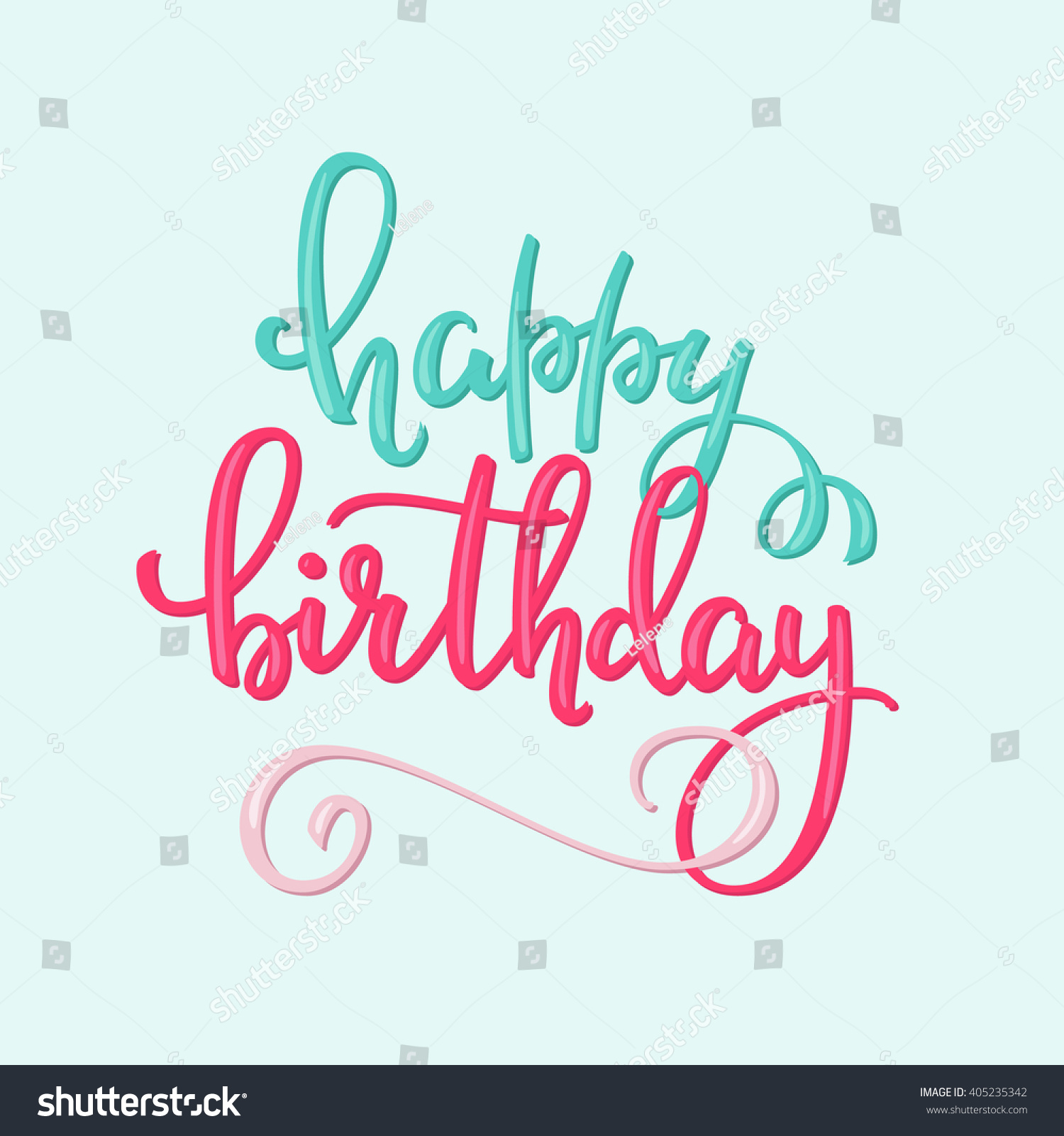 Royalty Free Happy Birthday Lettering Sign Quote
