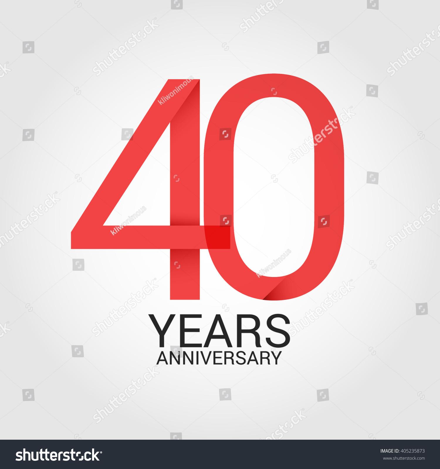 40 years anniversary signs symbols simple stock vector 405235873 40 years anniversary signs symbols simple stock vector 405235873 shutterstock buycottarizona Choice Image