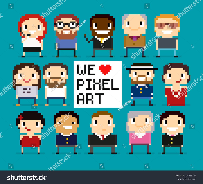 Image Vectorielle De Stock De Différents Caractères Dart