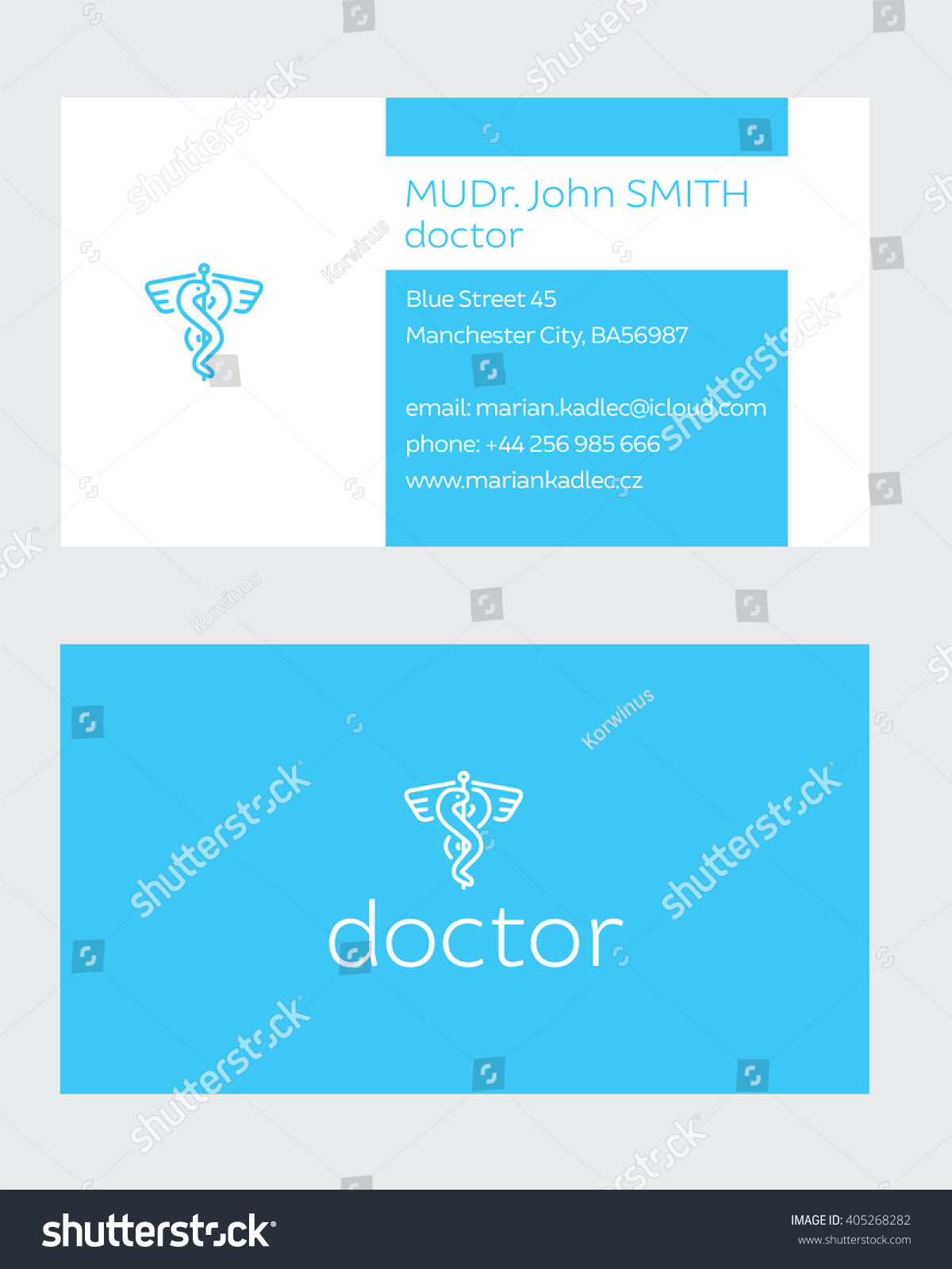 Business card doctor stock vector 405268282 shutterstock business card of doctor magicingreecefo Images