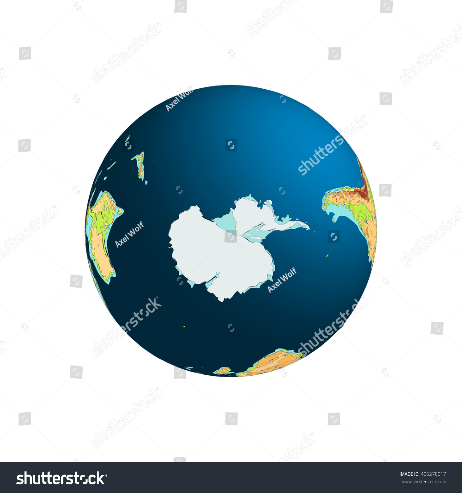 World globe planet earth antarctica south stock vector 405278017 world globe planet earth antarctica south pole vector illustration isolated on gumiabroncs Choice Image