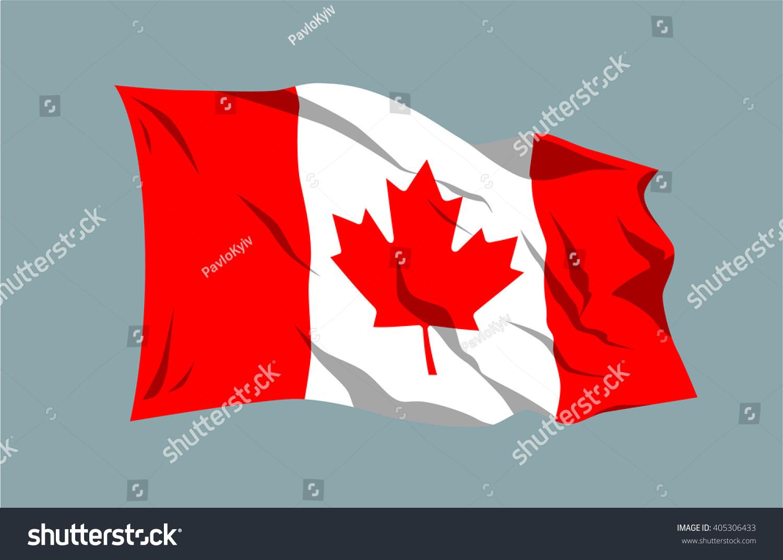 vector waving national country flag ribbon stock vector 405306433