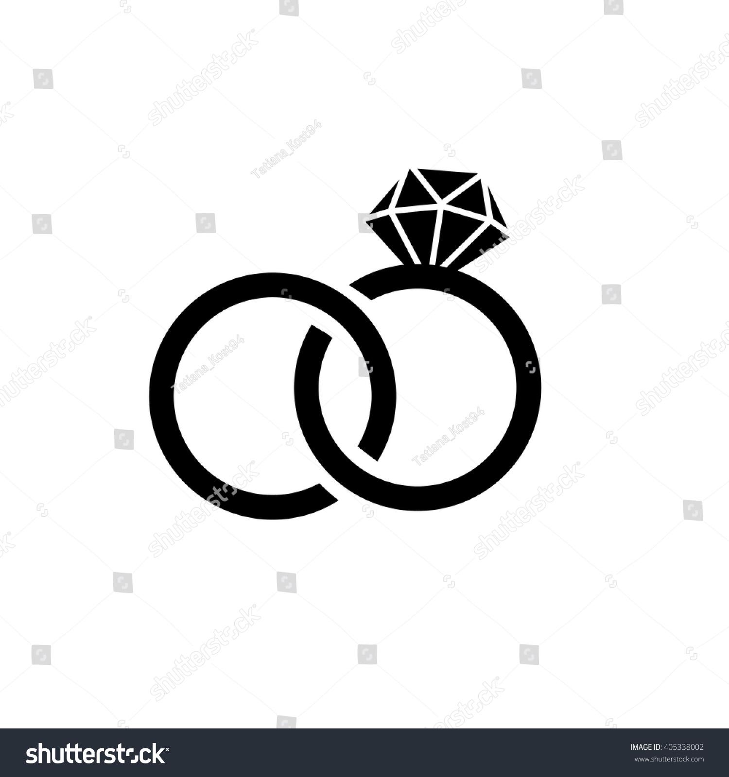 Wedding rings symbol  Wedding Ringsvector Flat Icon Isolatedmodern Simple Stock Vector ...