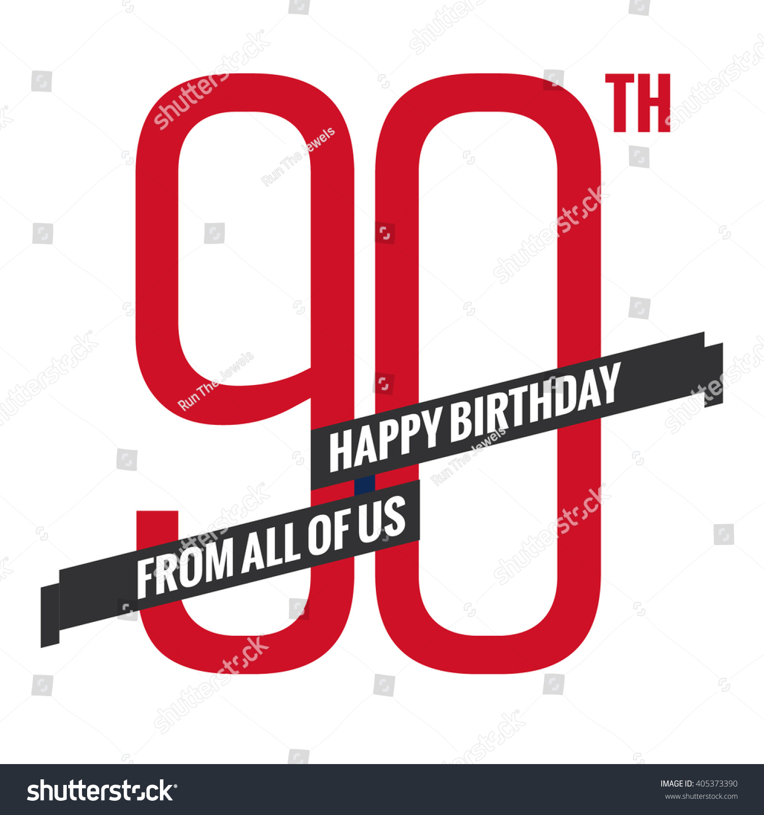 happy 90 birthday anniversary card vector stock vector 405373390