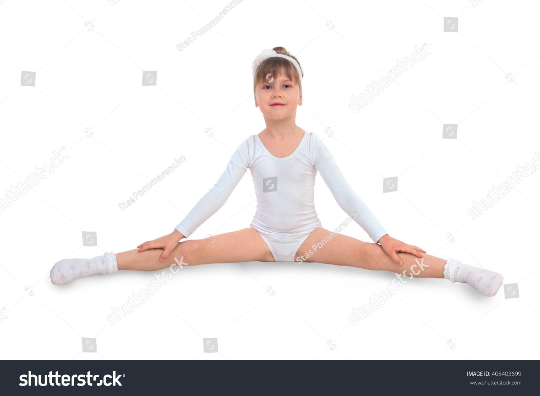 little naked girl doing splits