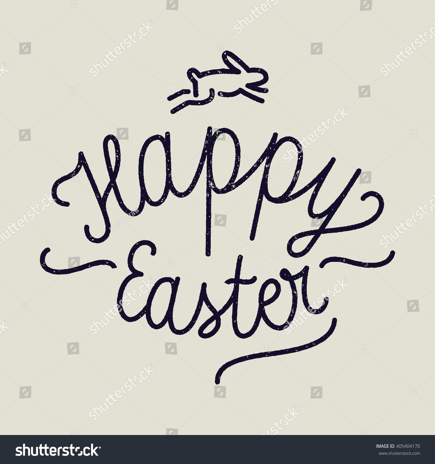Easter handwriting rusty calligraphy label stock vector