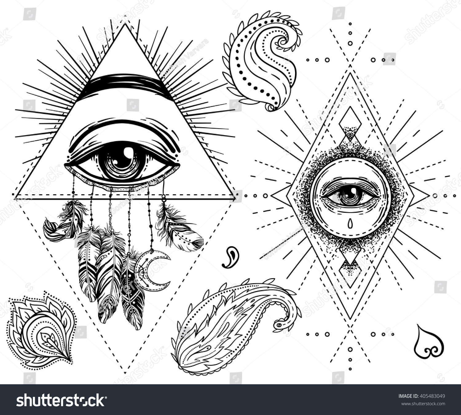 Sacred geometry symbol all seeing eye stock vector 405483049 sacred geometry symbol with all seeing eye isolated on white mystic alchemy occult biocorpaavc Choice Image