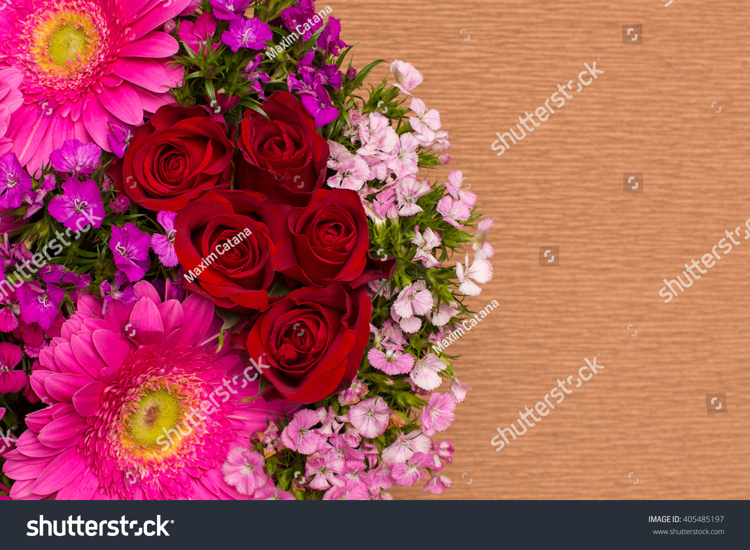 Beautiful Flowers In Decorative Box Design Of Different Types Of