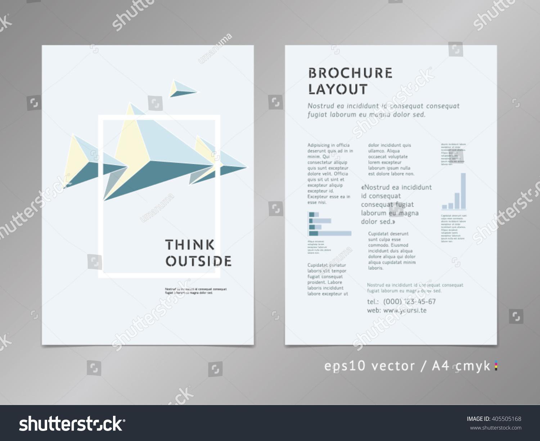 geometric cover design brochure catalog flyer stock vector royalty