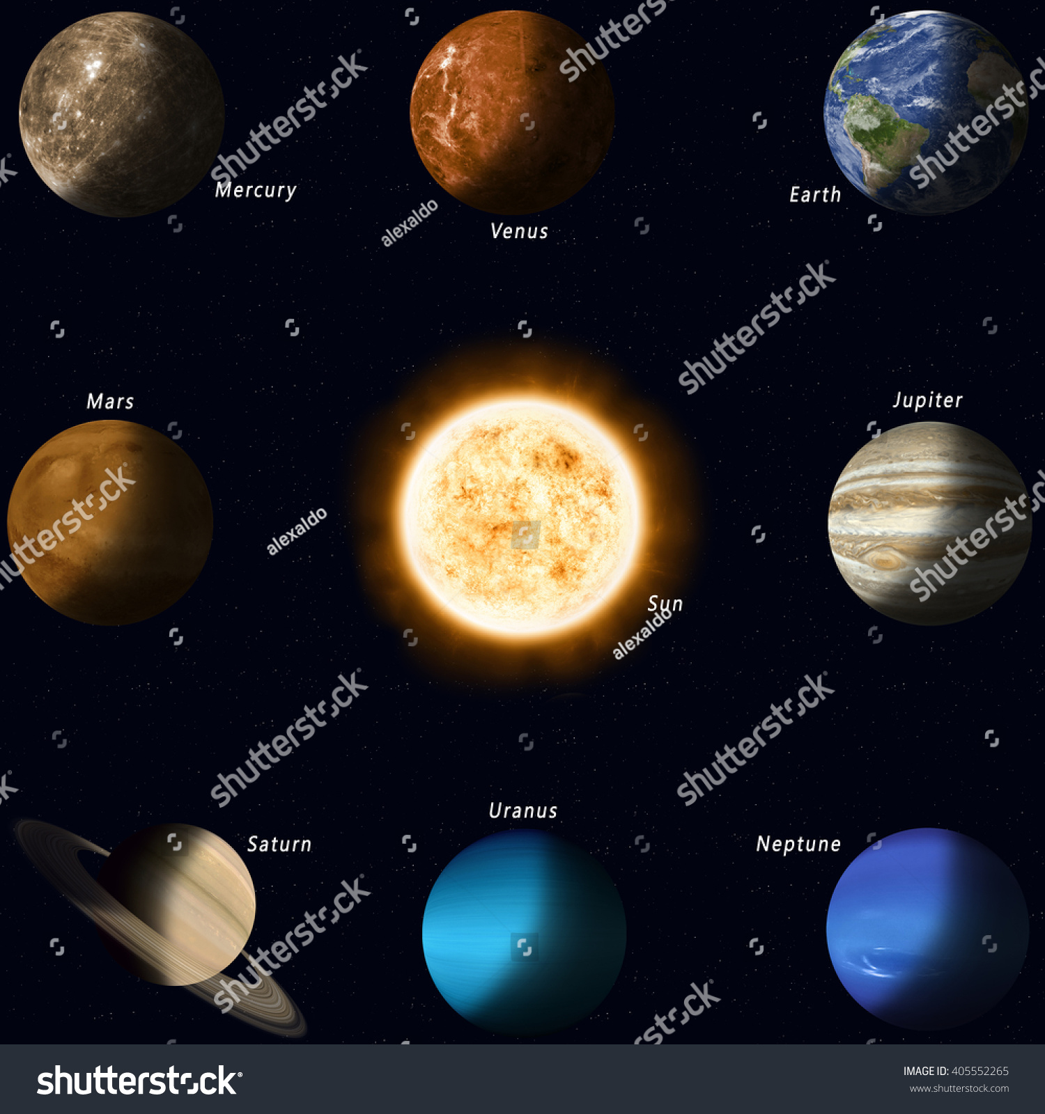 all the planets in solar system names - photo #14