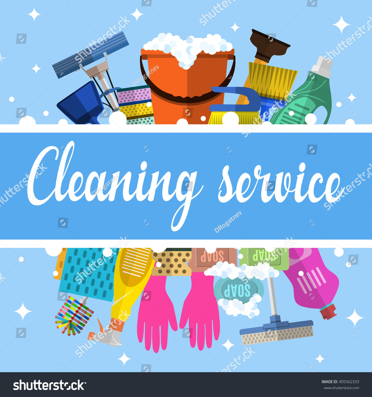 cleaning service flat illustration poster template stock vector cleaning service flat illustration poster template for house cleaning services various cleaning tools