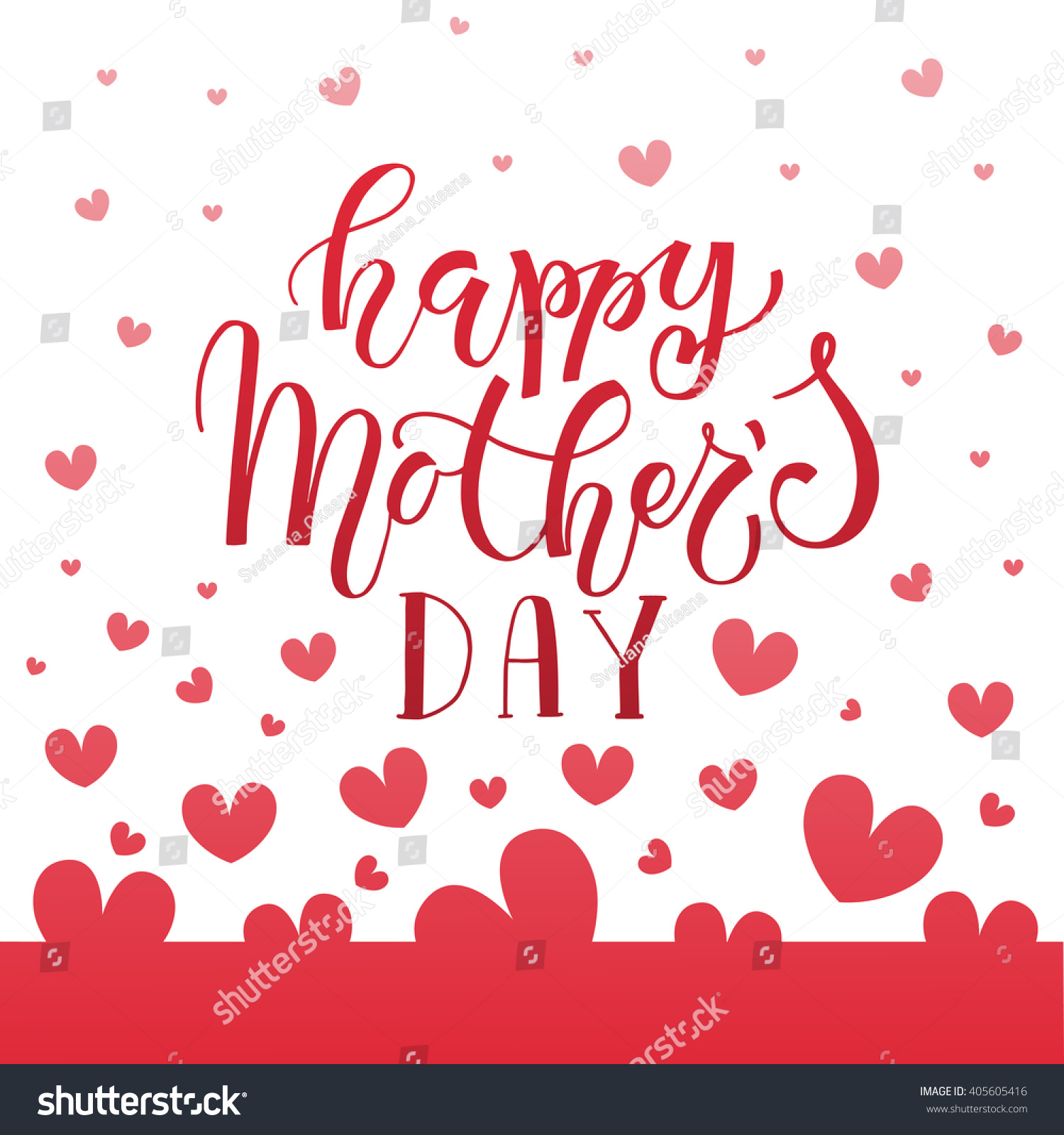 Happy Mothers Day Text Mothers Day Stock Vector 405605416