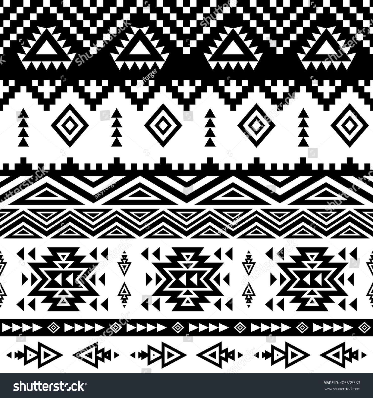 Background geometric mexican patterns seamless vector zigzag maya - Seamless Ethnic Pattern Background With Geometric Aztec Maya Peru Mexican Tribal