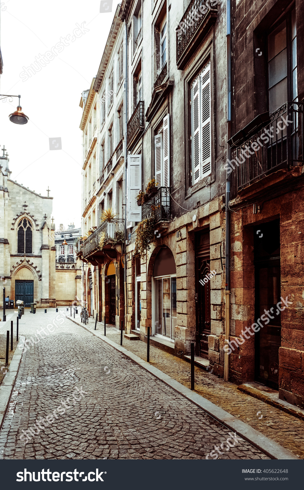 street view old town bordeaux city stock photo 405622648 shutterstock. Black Bedroom Furniture Sets. Home Design Ideas
