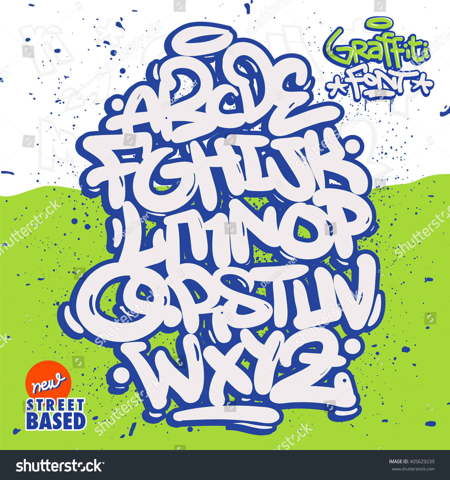 Bubble graffiti font family stock vector 405629239 - Bubble graffiti ...